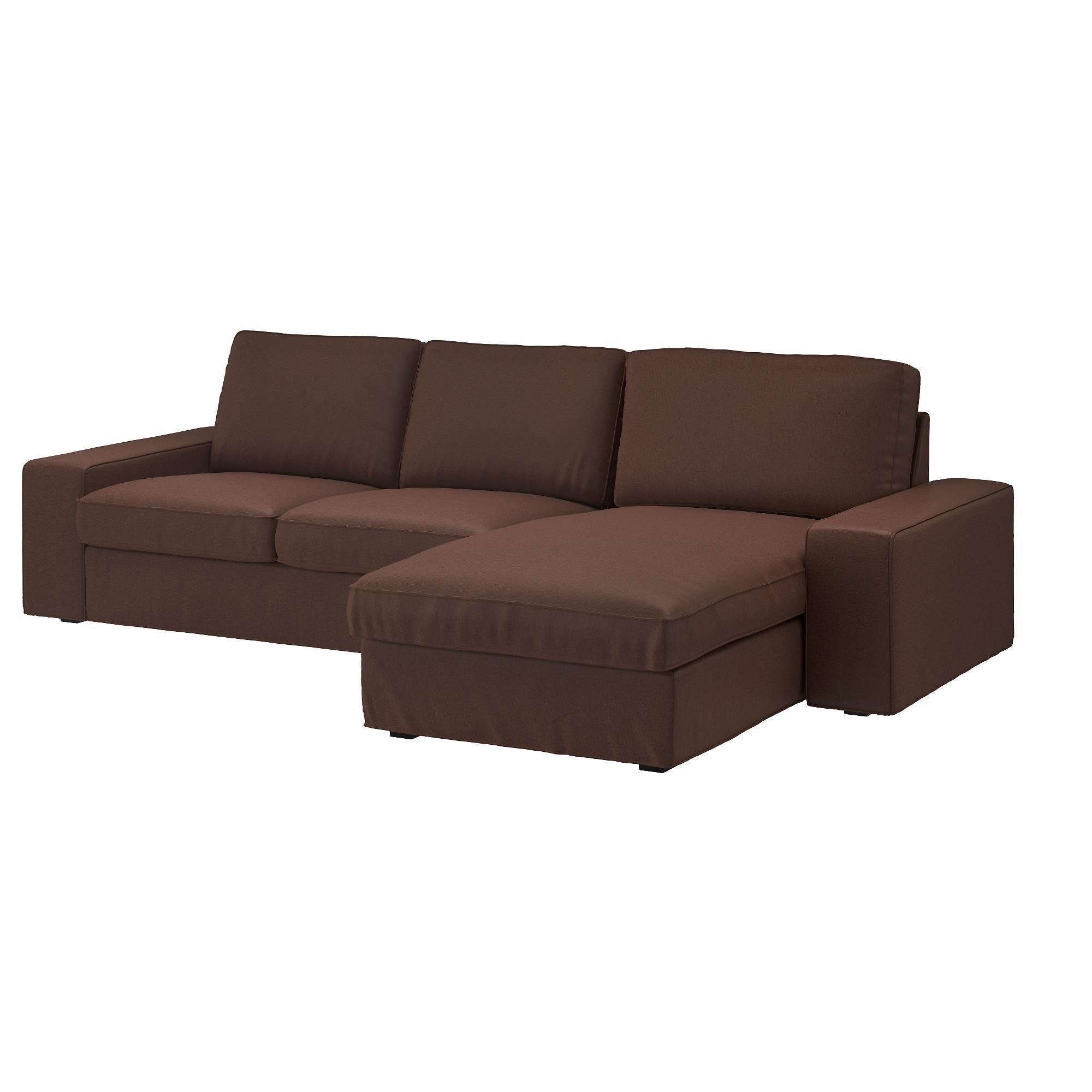 Kivik Sectional, 3-Seat - Borred Dark Brown - Ikea regarding Mini Sofa Sleepers