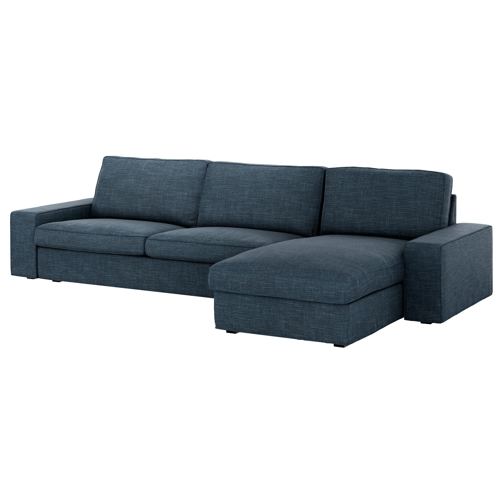 Kivik Three Seat Sofa And Chaise Longue – Orrsta Light Grey – Ikea Throughout Three Seater Sofas (Image 14 of 20)