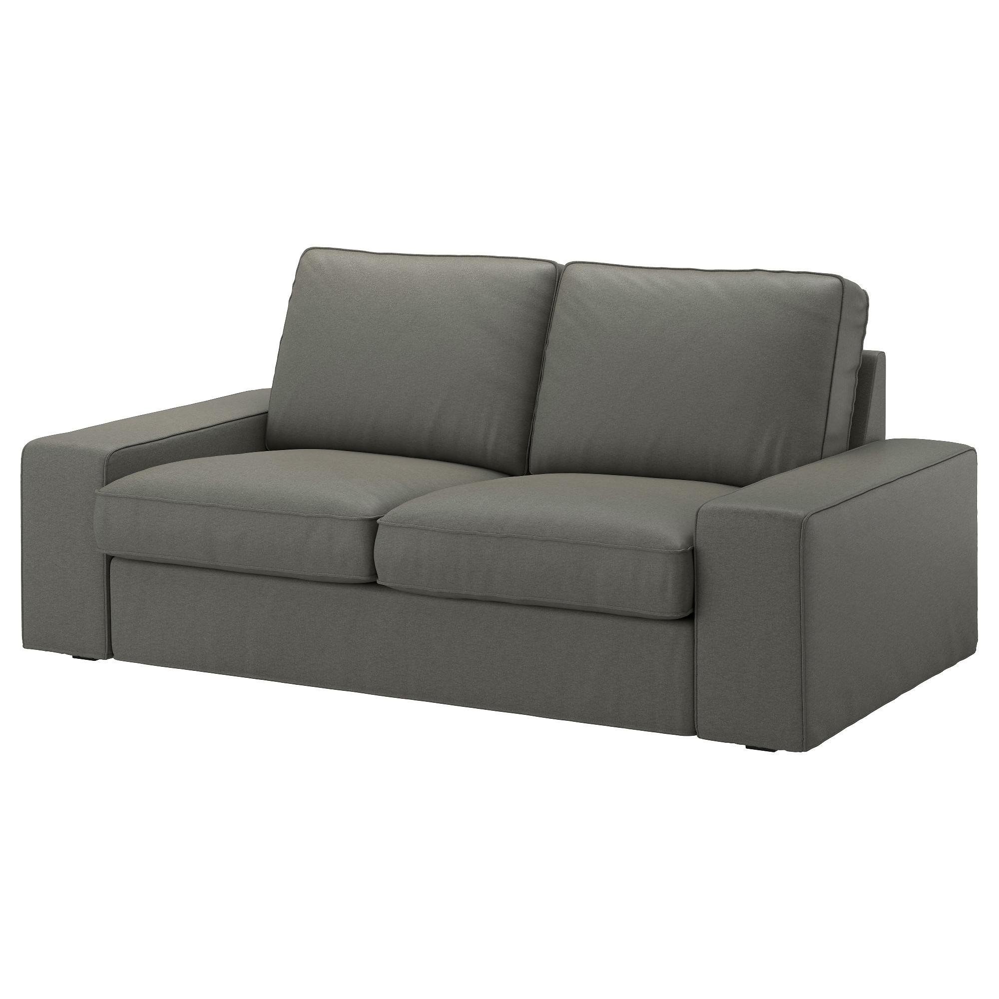 Kivik Two Seat Sofa Borred Grey Green – Ikea In Ikea Two Seater Sofas (View 6 of 20)