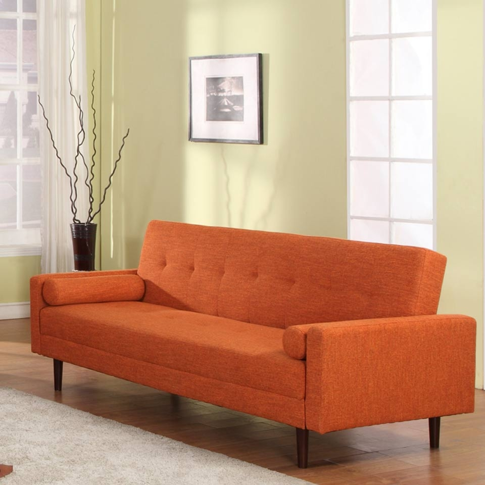 Kk18 Orange Modern Sofa Bed Intended For Orange Modern Sofas (Image 10 of 20)