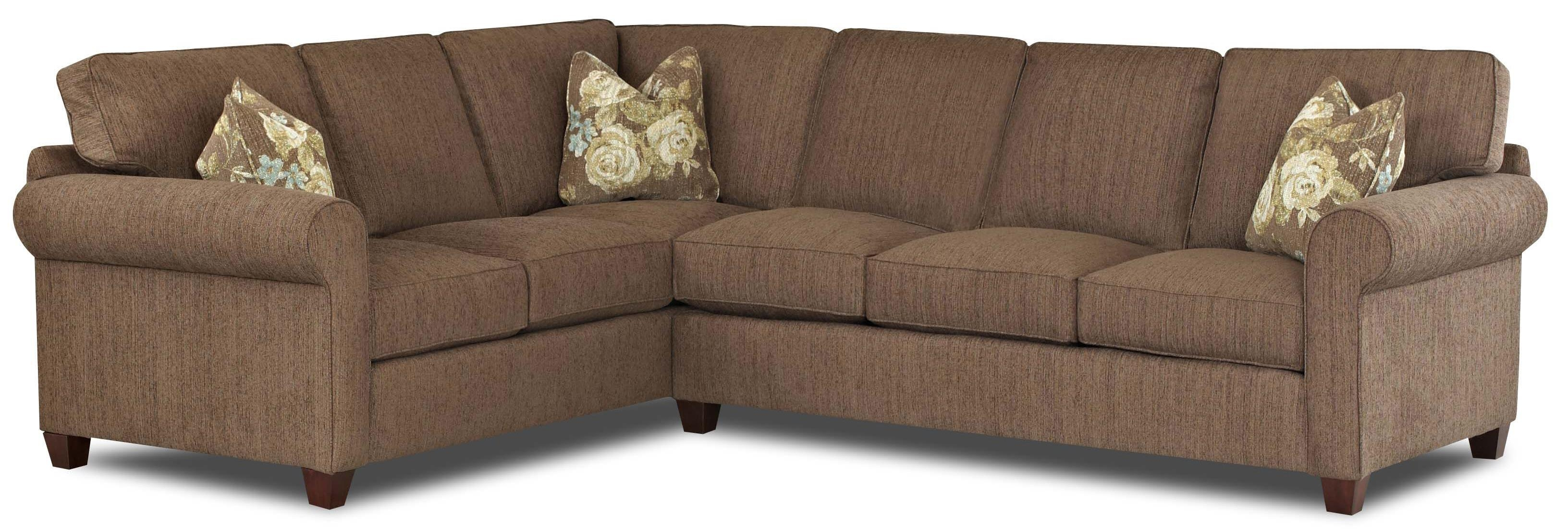Klaussner Lillington Distinctions Transitional 2 Piece Sectional With Regard To 2 Piece Sofas (Image 9 of 20)