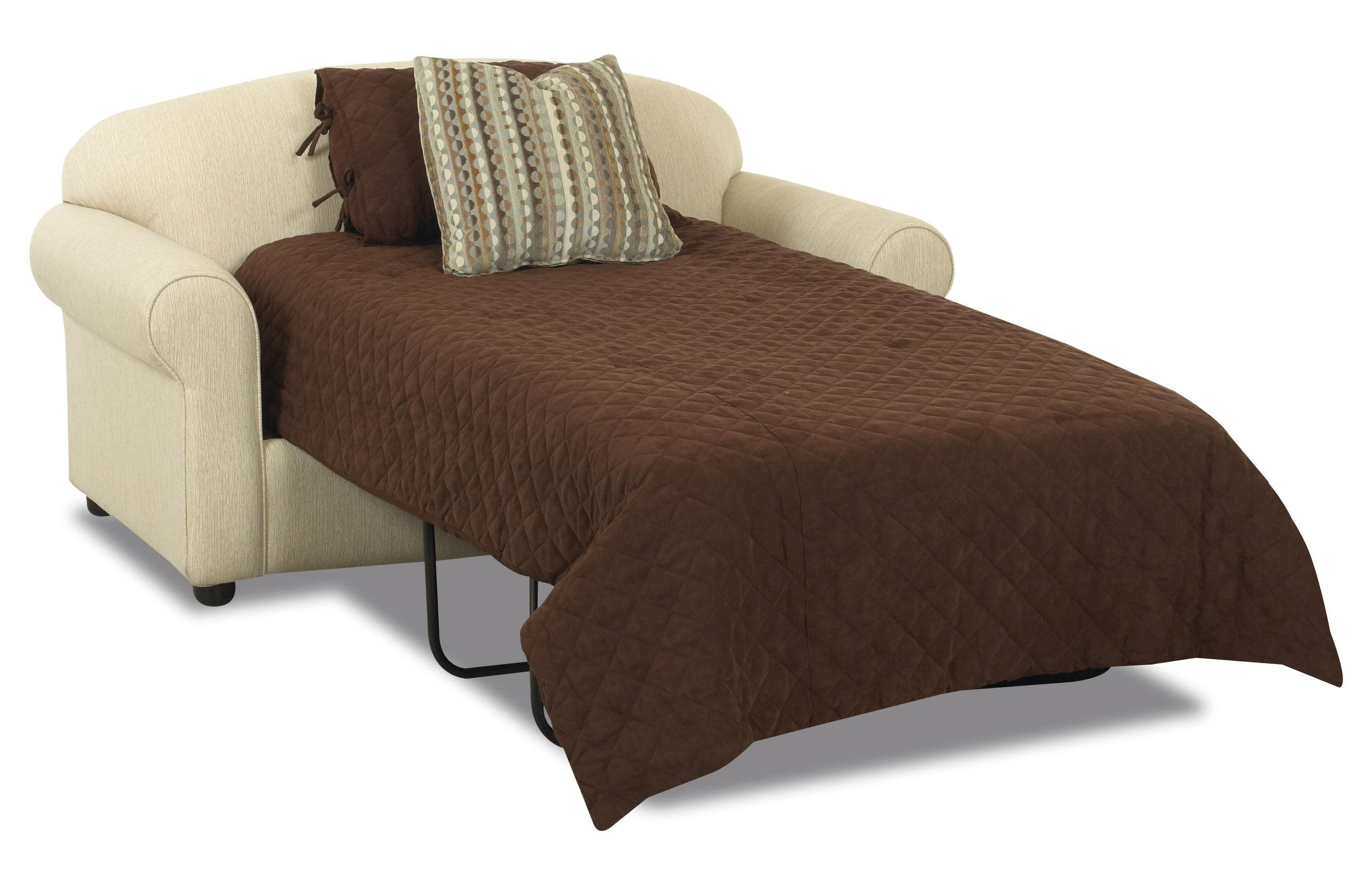 Klaussner Possibilities Innerspring Twin Sleeper Loveseat – Dunk Intended For Twin Sleeper Sofa Chairs (Image 9 of 20)