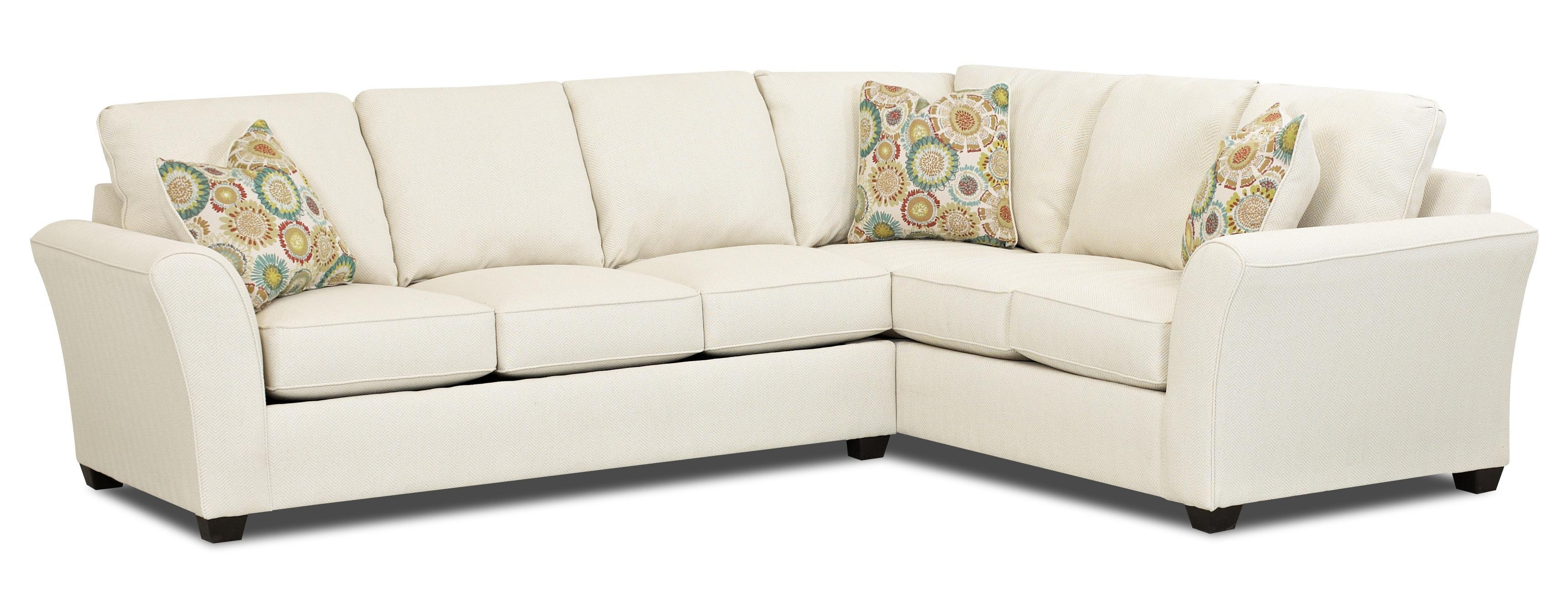 Klaussner Sedgewick Transitional 2 Piece Sectional Sleeper Sofa Regarding Sectional Sleepers (View 4 of 20)