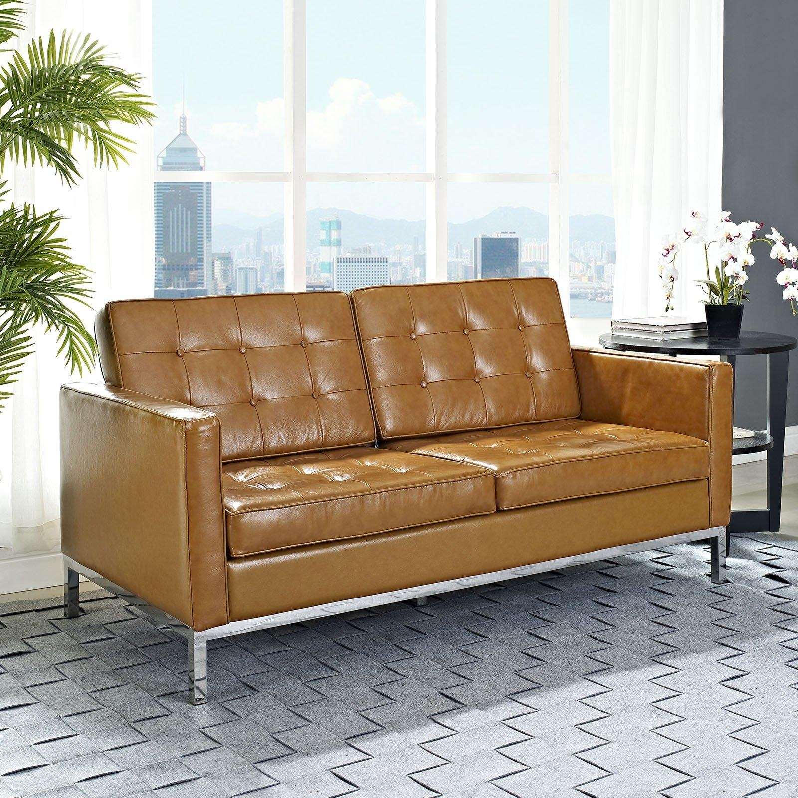 Knoll Leather Sofa – Leather Sectional Sofa Pertaining To Florence Knoll Leather Sofas (Image 18 of 20)