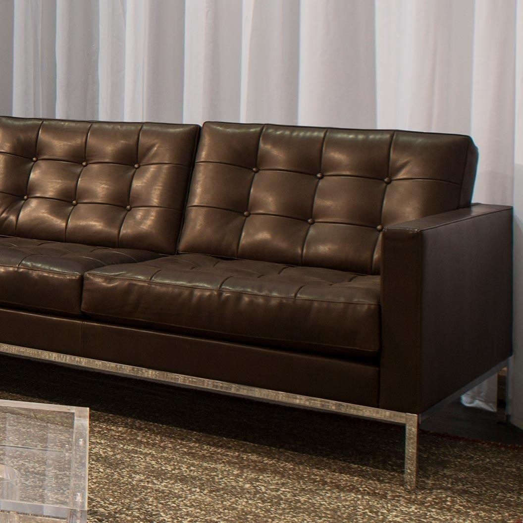 Knoll Leather Sofa – Leather Sectional Sofa Regarding Florence Leather Sofas (Image 17 of 20)