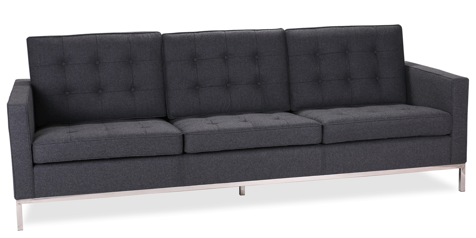 Knoll Style 3 Seater Sofa Inside Florence Knoll 3 Seater Sofas (View 17 of 20)