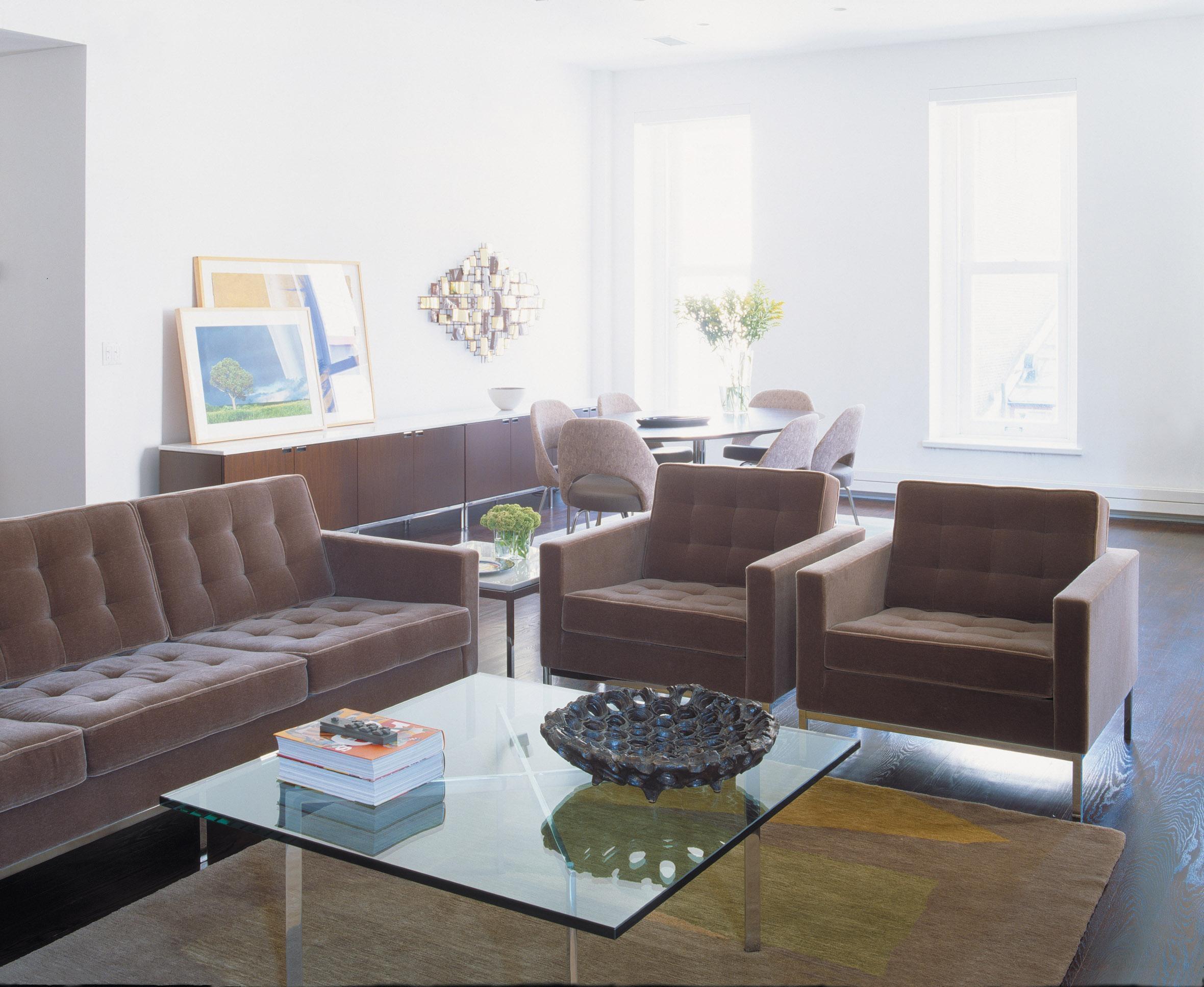 Knoll Velvet Upholstery   Knolltextiles in Florence Medium Sofas