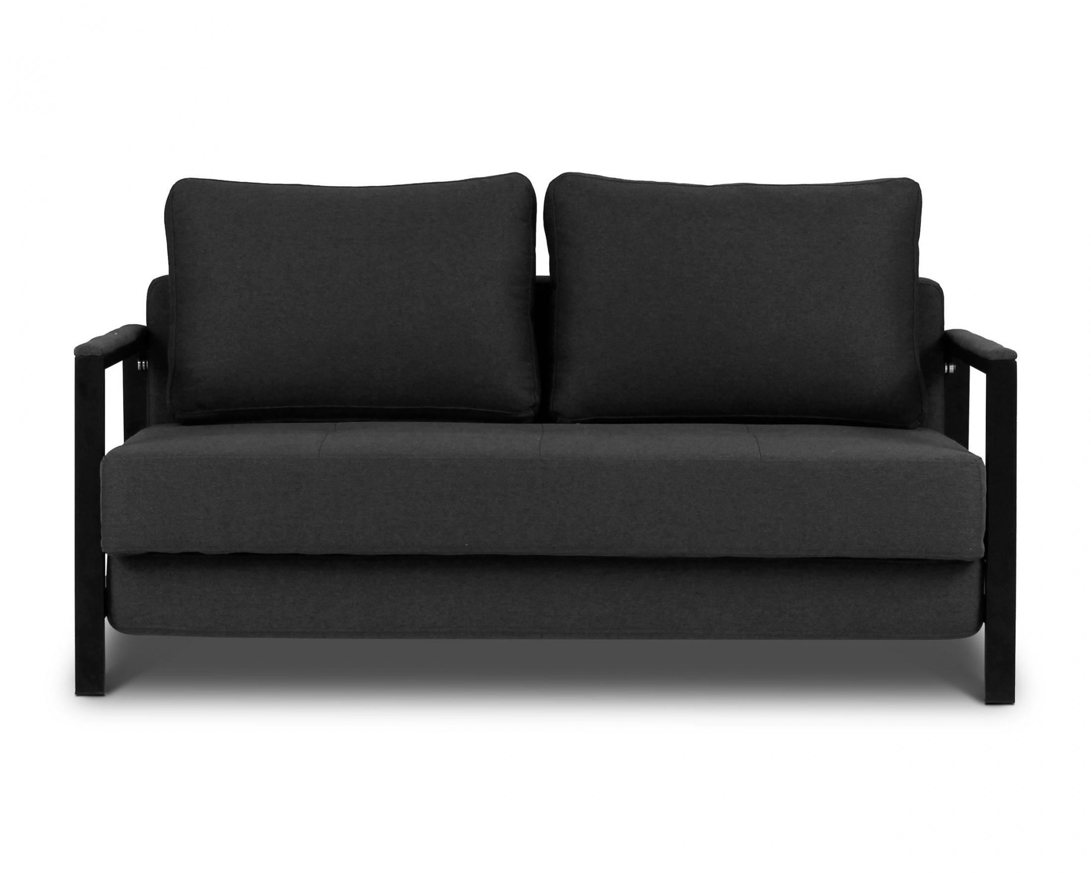 Kobe - 2 Seat Sofa Bed   Loungelovers regarding Black 2 Seater Sofas