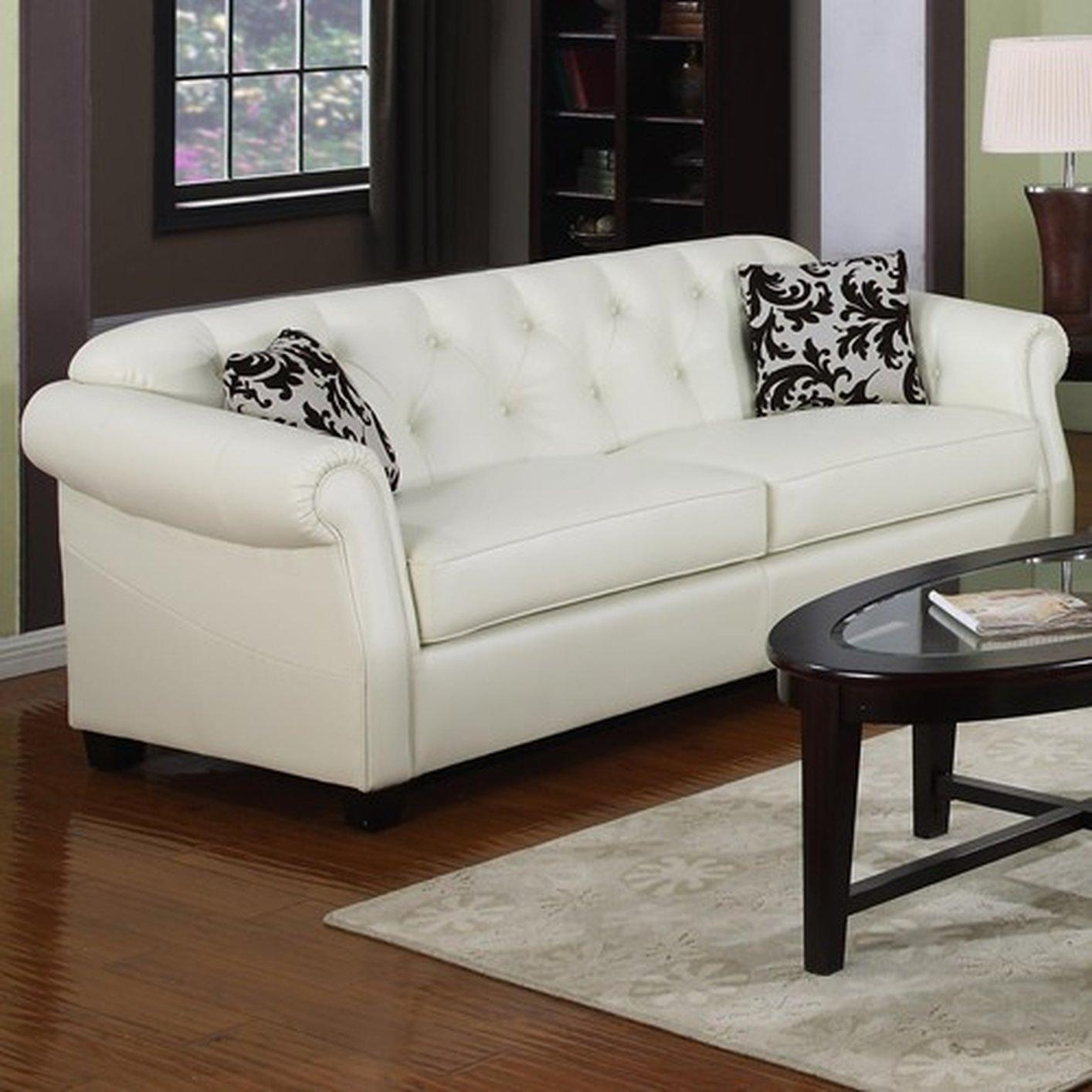 Kristyna Beige Leather Sofa – Steal A Sofa Furniture Outlet Los In Beige Leather Couches (View 8 of 20)