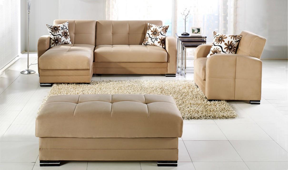 Kubo Convertible Sectional Sofa In Rainbow Orangeistikbal With Convertible Sectional Sofas (View 9 of 15)