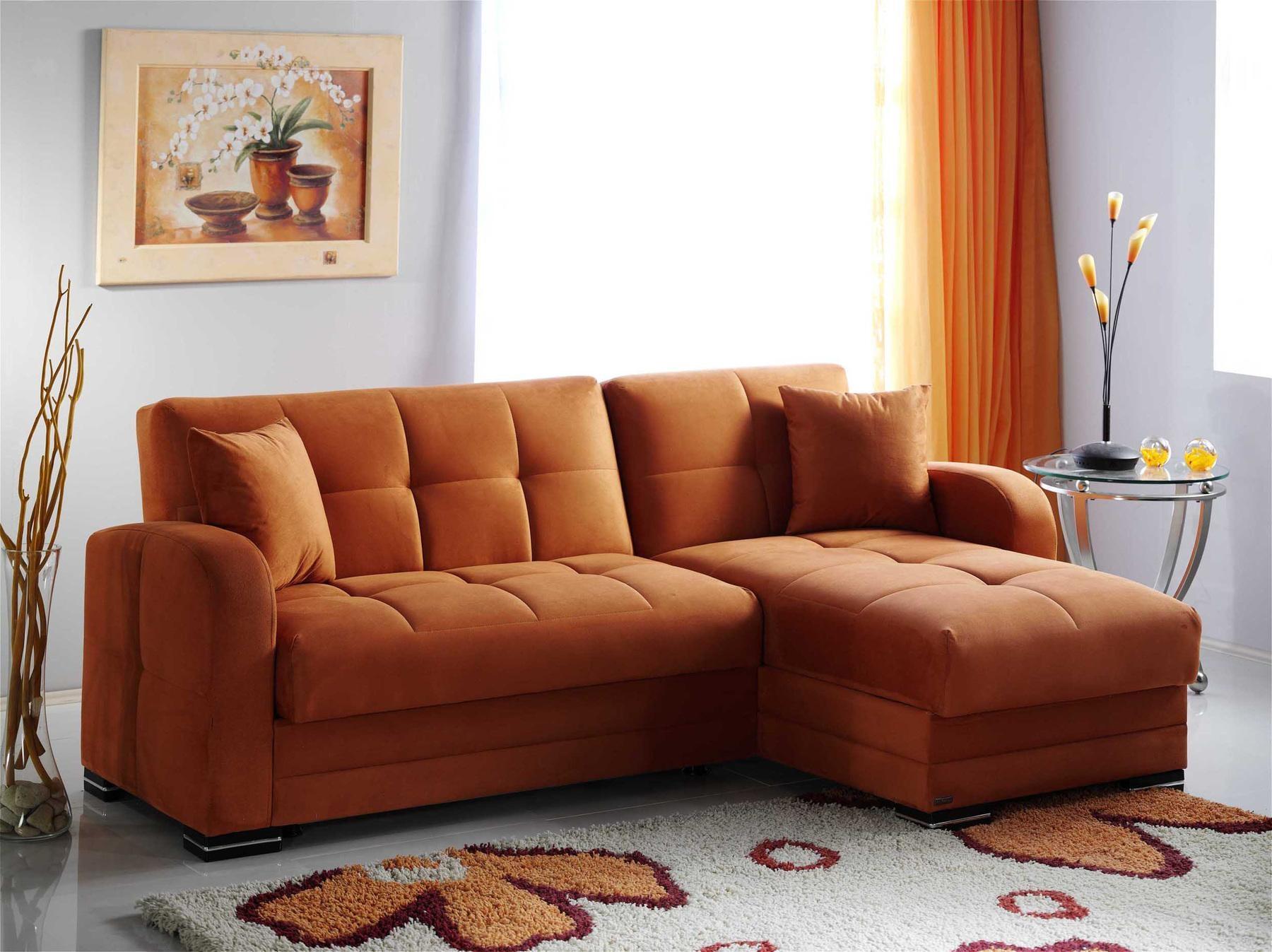 Kubo Orange Rf Sectional Sofa Su-Kubo Sunset Furniture Sectional regarding Orange Sectional Sofas