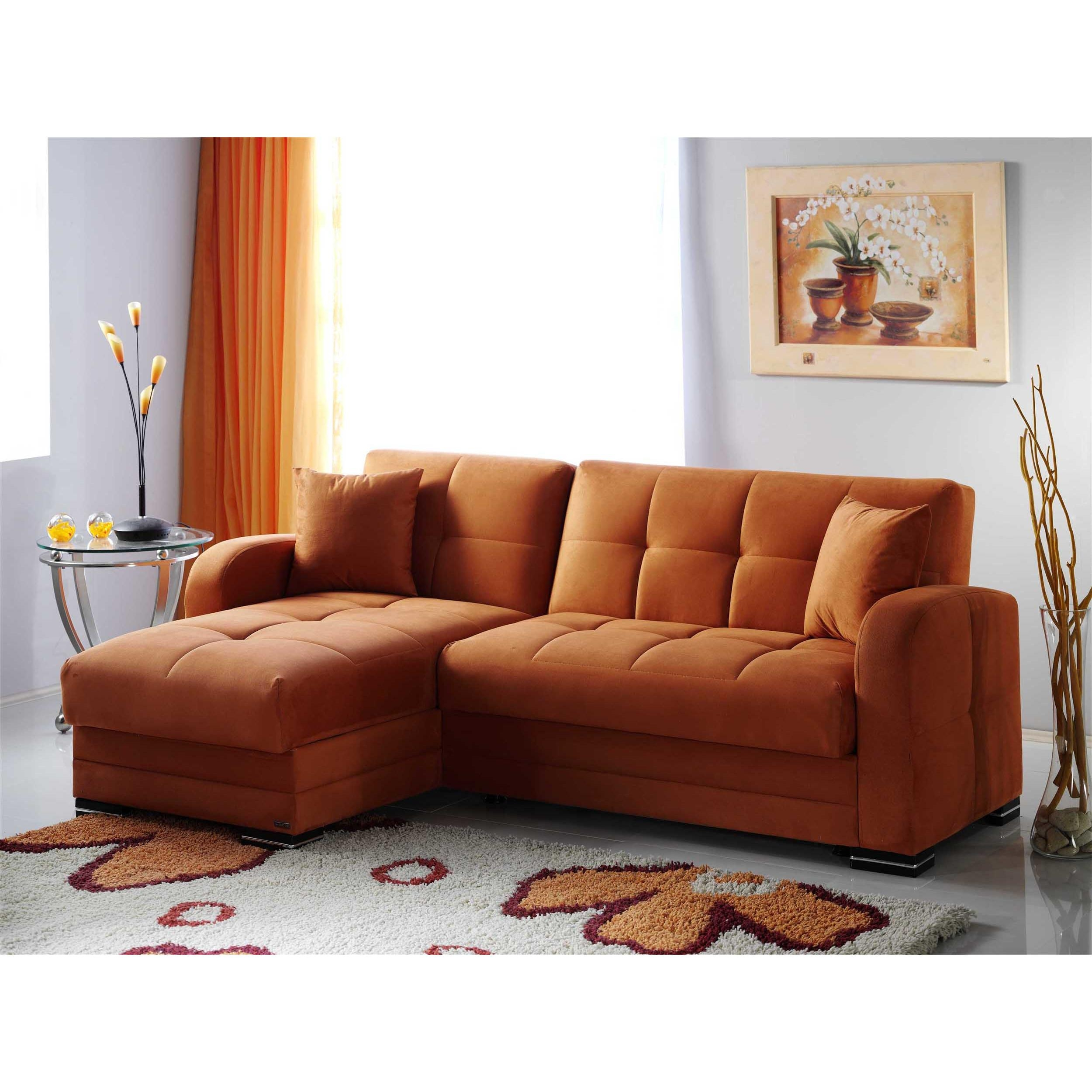 Kubo Rainbow Orange Sectional Sofasunset Inside Orange Sectional Sofas (Image 13 of 20)