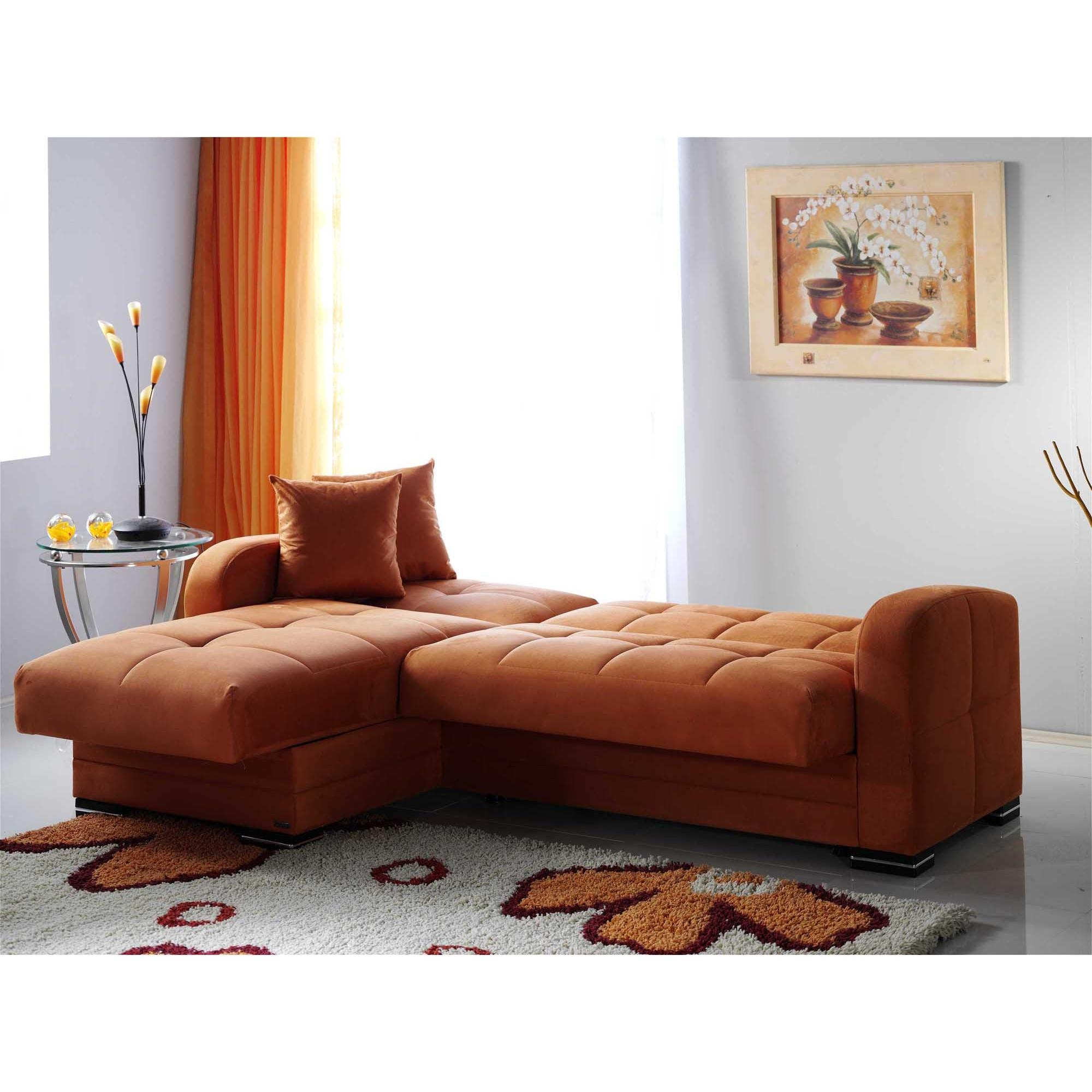 Kubo Rainbow Orange Sectional Sofasunset throughout Orange Sectional Sofa