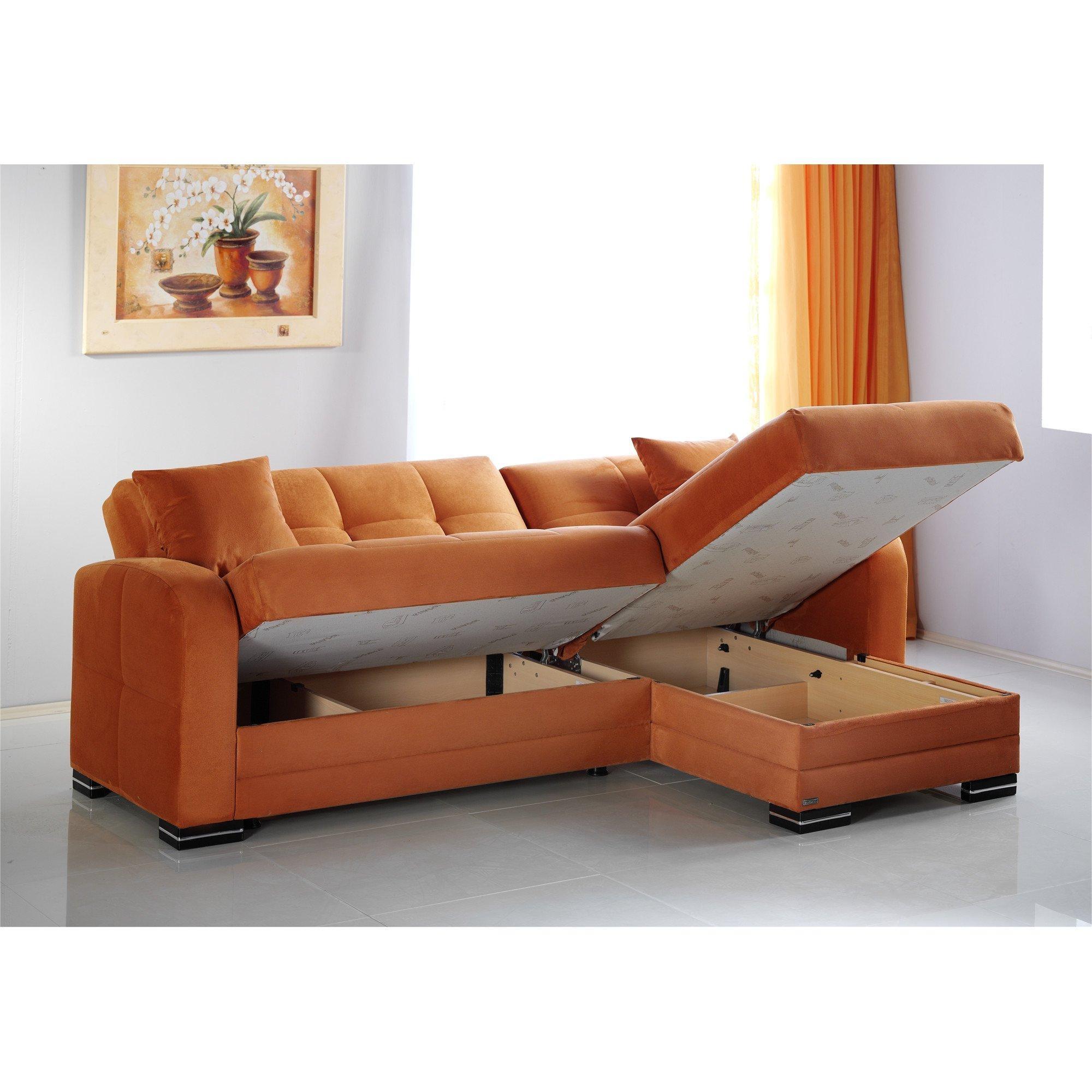 Kubo Rainbow Orange Sectional Sofasunset Throughout Orange Sectional Sofa (View 5 of 20)