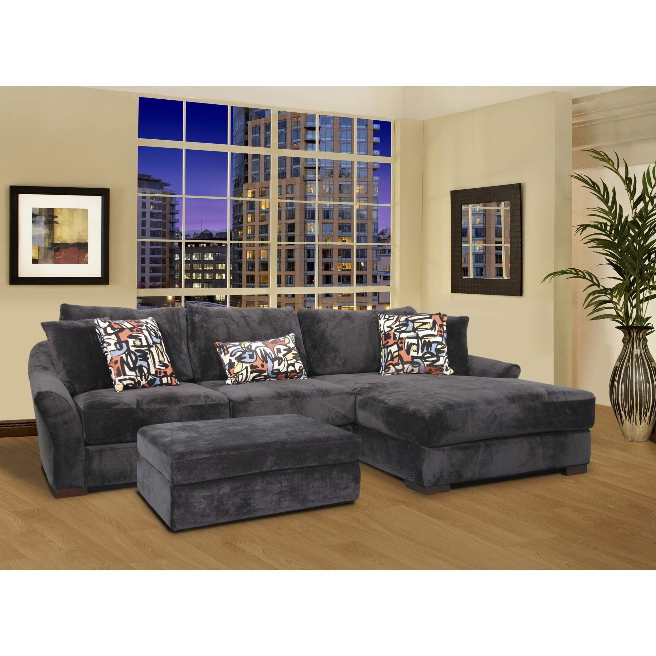 L Shape Gray Velvet Sectional Sleeper Sofa With Left Chaise Lounge In L Shaped Sectional Sleeper Sofa (View 13 of 20)