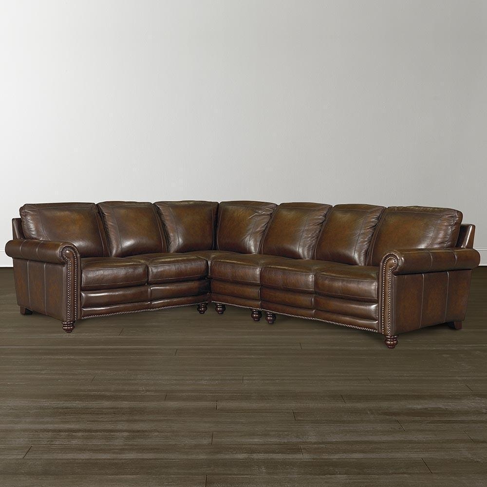 L Shaped Casual Leather Sectional Within High End Leather Sectionals (Image 16 of 20)