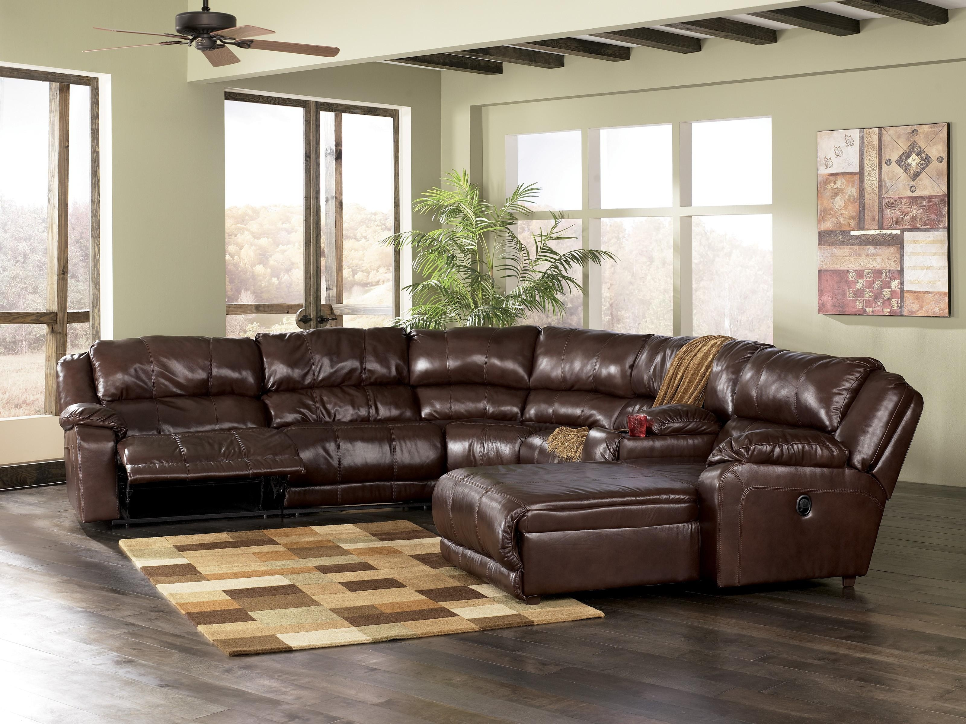 L Shaped Leather Sectional Sofa – Leather Sectional Sofa Pertaining To Leather L Shaped Sectional Sofas (Image 11 of 20)