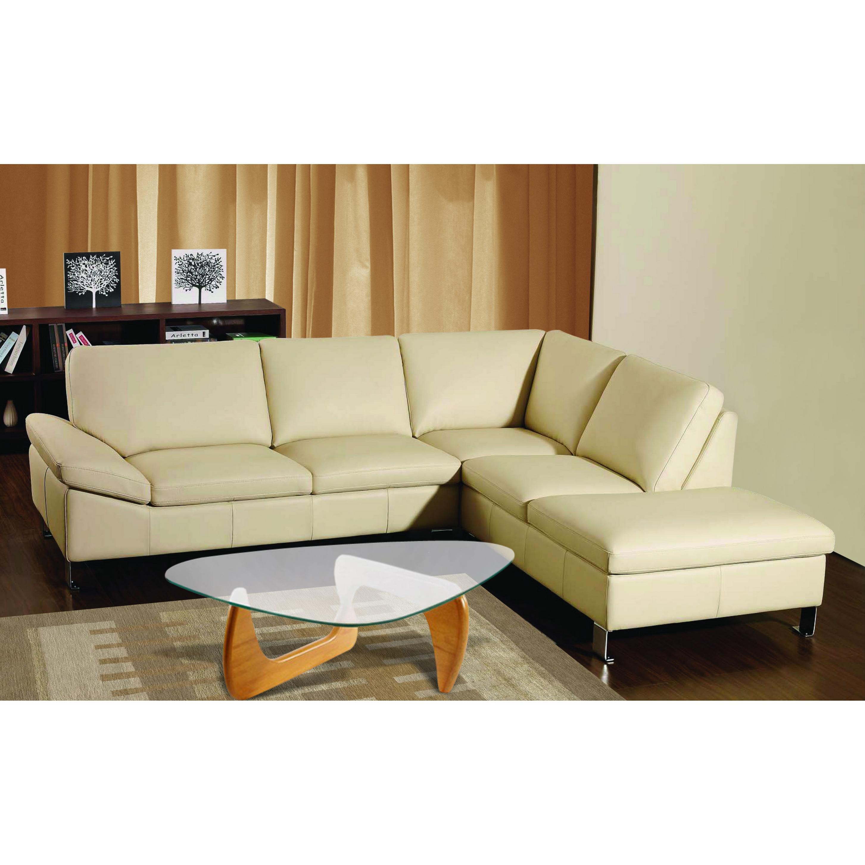 L Shaped Leather Sectional Sofa – Leather Sectional Sofa Throughout Leather L Shaped Sectional Sofas (Image 12 of 20)
