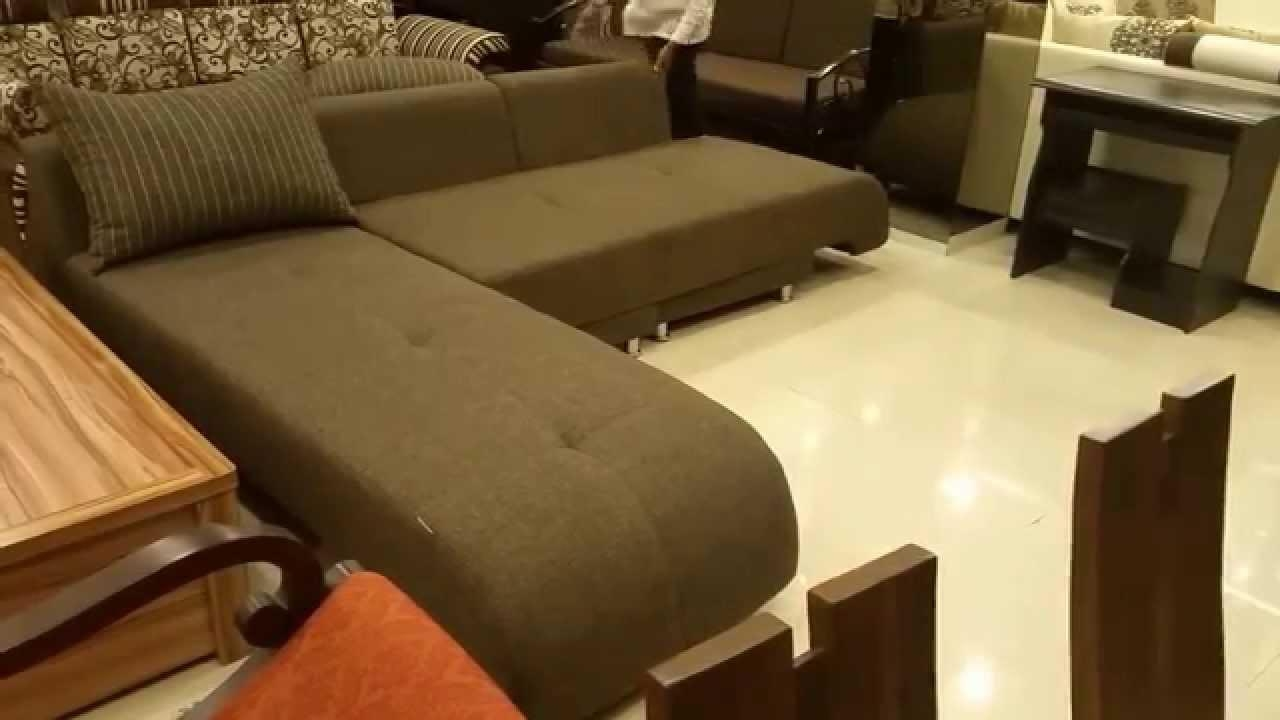 L Shaped Sofa Cum Bed In Mumbai – Youtube With L Shaped Sofa Bed (View 7 of 20)