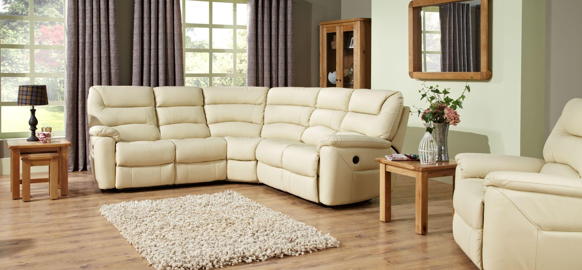 La Z Boy Manhattan 2 Corner 2 Static Leather Sofa | Scs Intended For Lazy Boy Manhattan Sofas (Image 1 of 21)