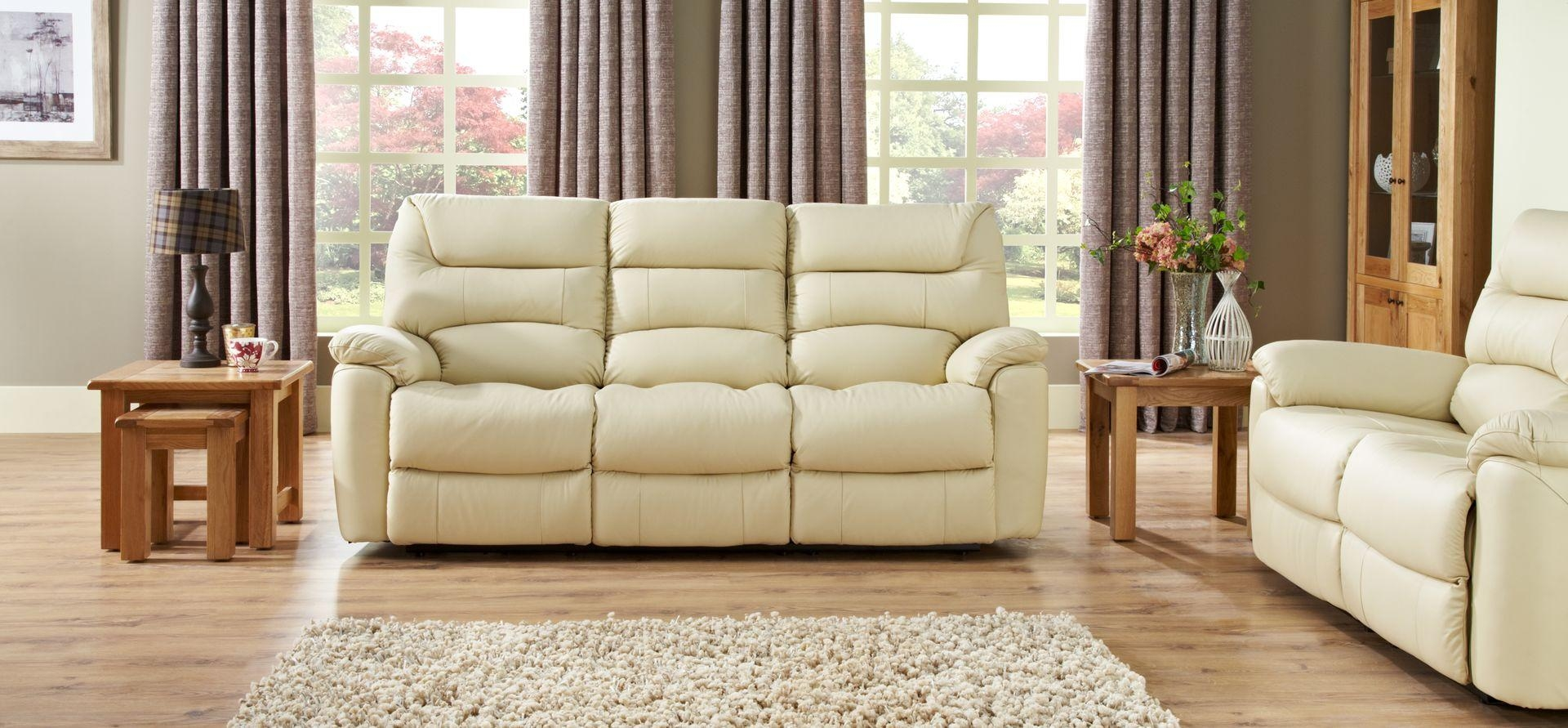 La Z Boy Manhattan 3 Seater Manual Recliner Sofa | Scs Within Lazy Boy Manhattan Sofas (Image 4 of 21)