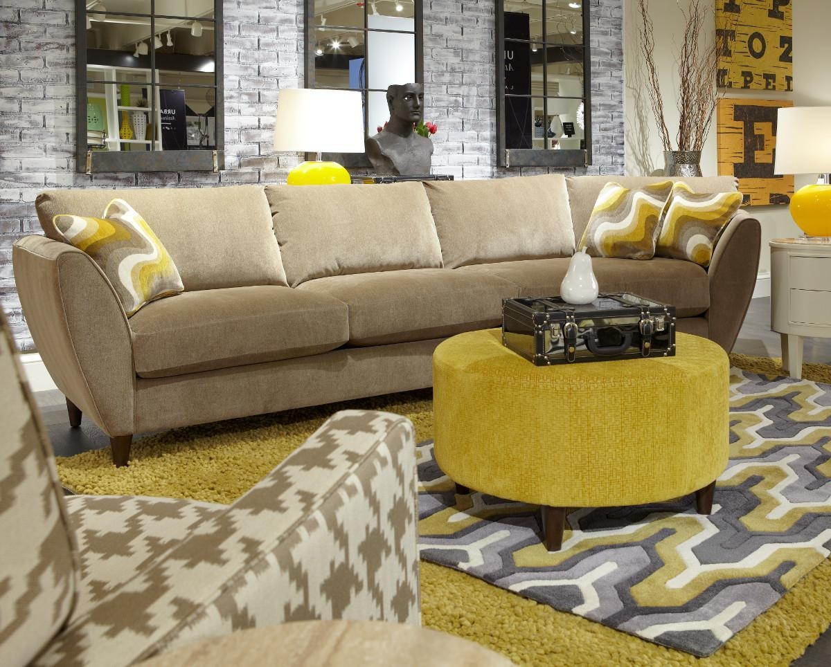 La Z Boy Mello Yellow Contemporary 2 Piece Sectional W/ Chaise In Lazyboy Sectional Sofas (Image 11 of 20)