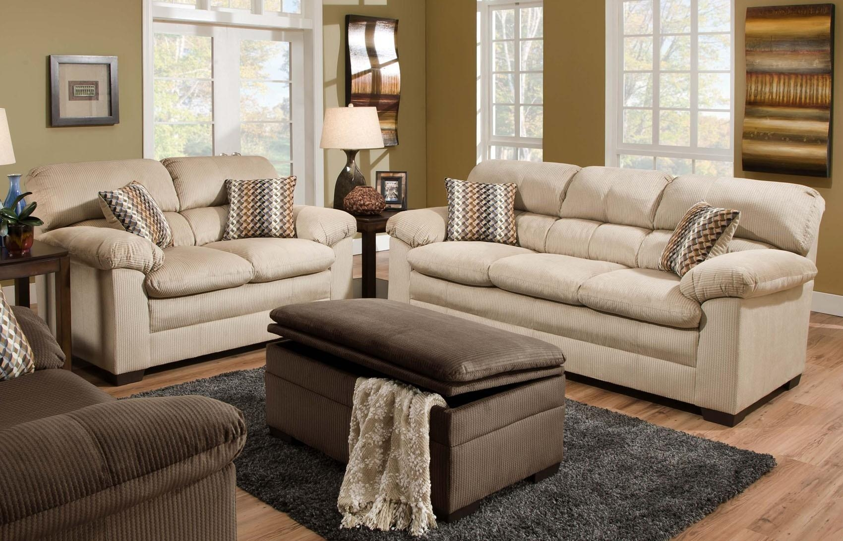 Lakewood Oversized Sofa Loveseat Set Beige Orange County Ca In Sofas Orange County (View 5 of 20)