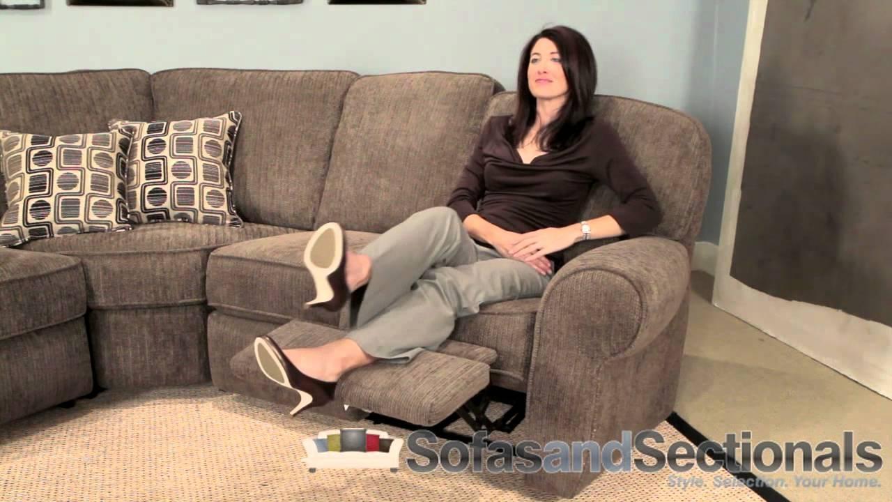 Lane 343 Megan Sectional Sofa – Youtube Regarding Lane Furniture Sofas (View 15 of 20)