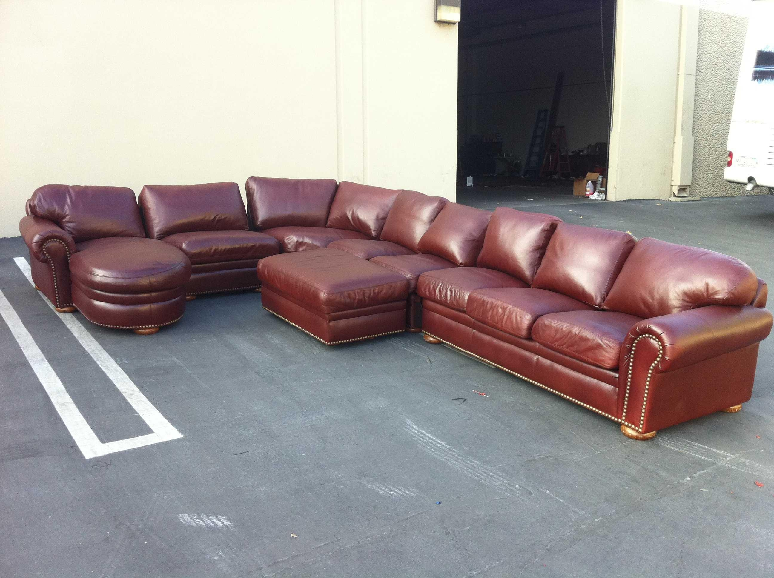 Large Leather Sofas And Half Italian Leather In Corner Sectional With Regard To Huge Leather Sectional (View 2 of 20)