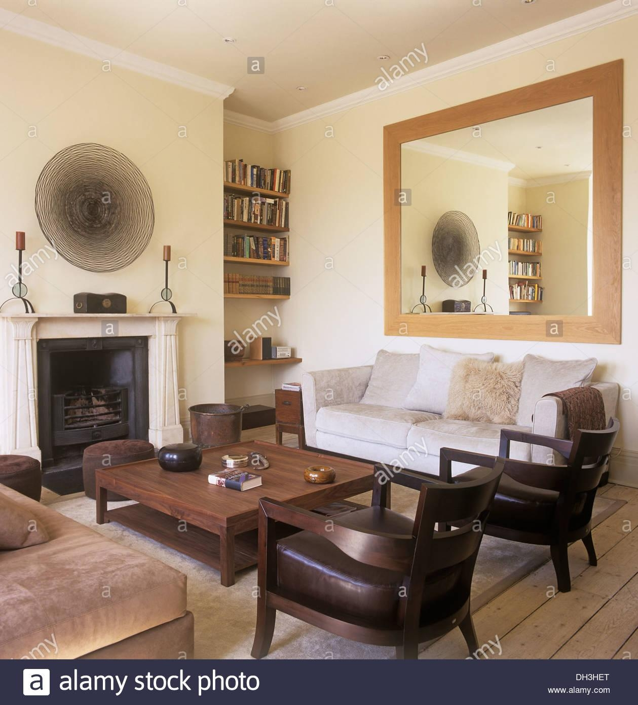 Large Mirror Above Sofa In Townhouse Living Room With Wooden For Mirror Above Sofas (View 3 of 20)