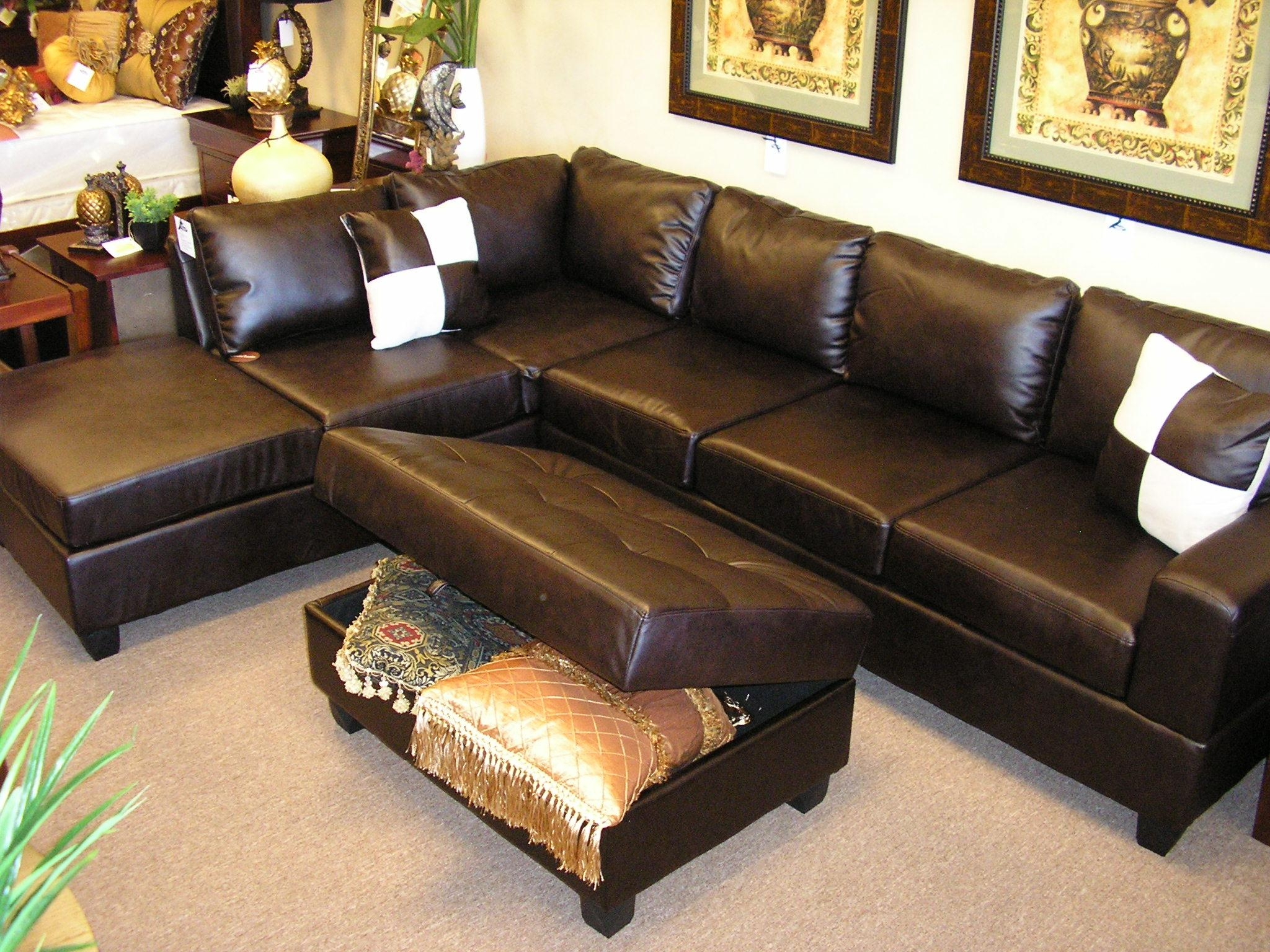 Large Sectional Sofa Leather | Tehranmix Decoration With Regard To Sectional With Large Ottoman (Image 8 of 20)
