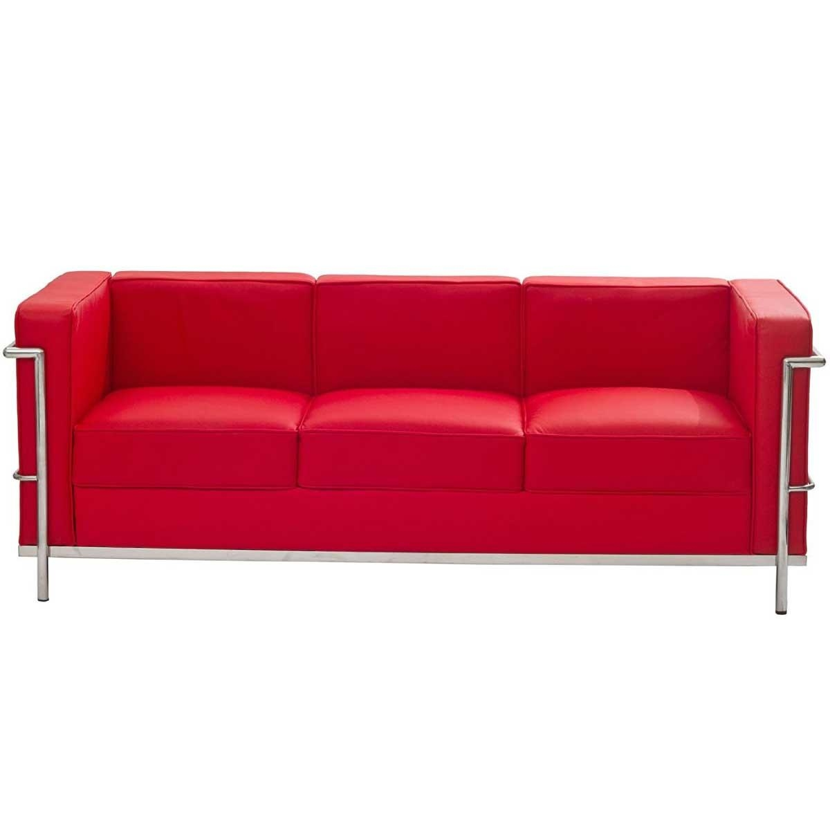 Latest Red Leather Sofas For Sale #4386 In Sofas With Chrome Legs (Image 11 of 20)