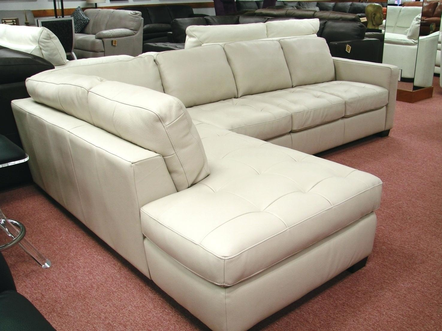 Lazy Boy Reclining Sectional Denver White Leather With Chaise Regarding Denver Sectional (View 15 of 15)