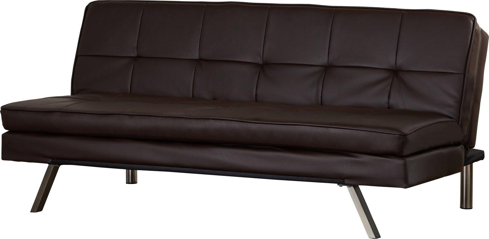 Leader Lifestyle Florence 3 Seater Clic Clac Sofa Bed & Reviews Inside Florence Sofa Beds (Image 13 of 20)