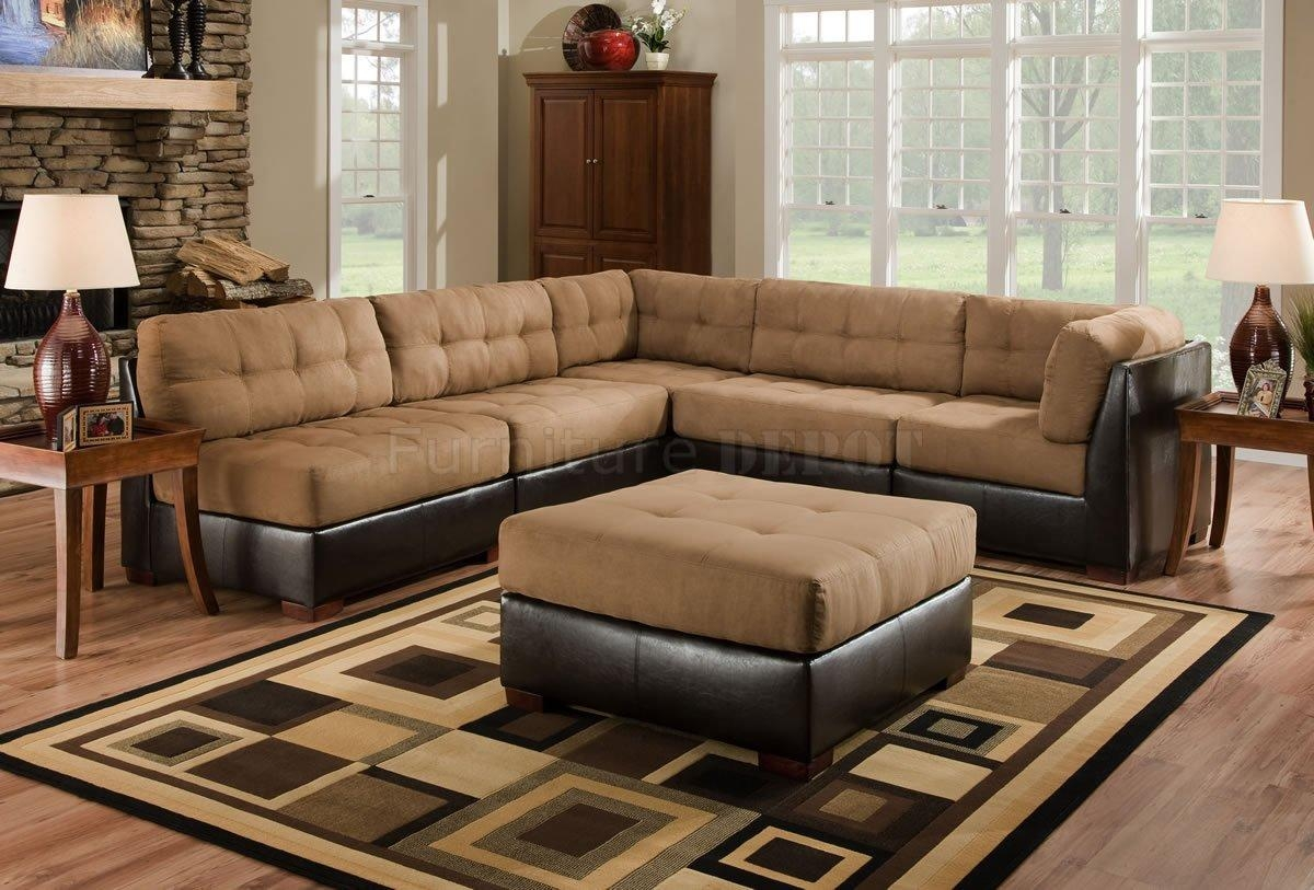 Leather And Cloth Sectional Sofas | Aviblock Regarding Leather And Cloth Sofa (View 8 of 20)