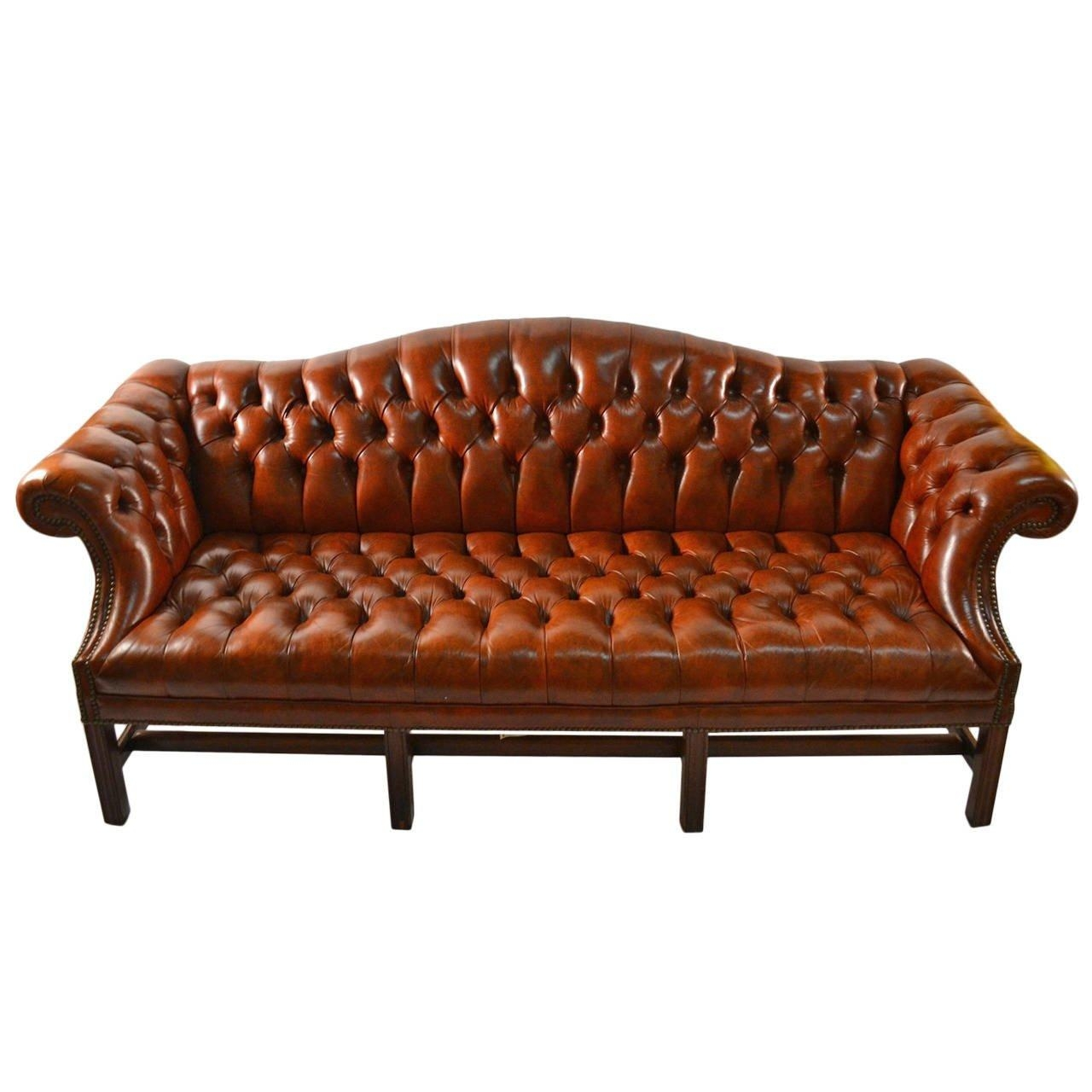 Leather Camel Back Sofa At 1Stdibs For Camelback Leather Sofas (View 7 of 20)