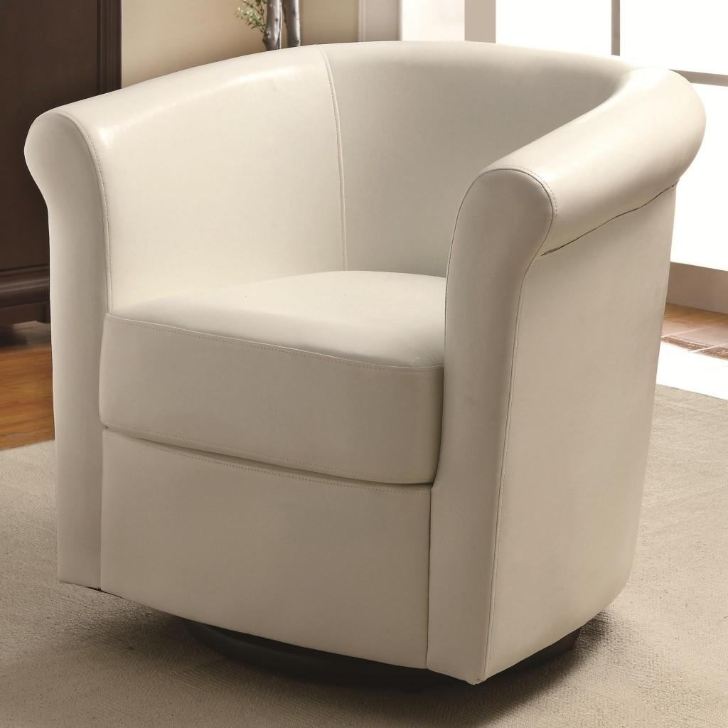 Leather Chairs For Living Room ~ Mubarak Throughout Round Sofa Chair Living Room Furniture (Image 4 of 20)