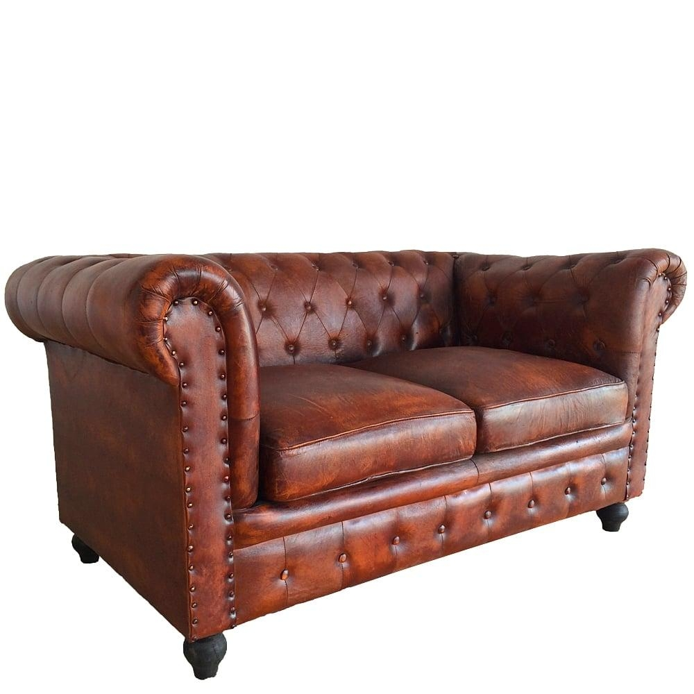 Leather Chesterfield 2 Seater Sofa   Wallace Sacks Inside Chesterfield Sofa And Chairs (View 14 of 20)