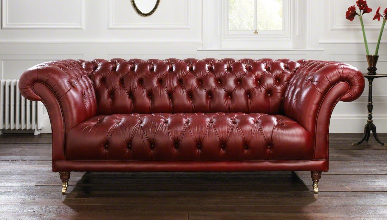 Leather Chesterfield Sofa : New Lighting – Clean And Bright In Red Leather Chesterfield Sofas (Image 5 of 20)