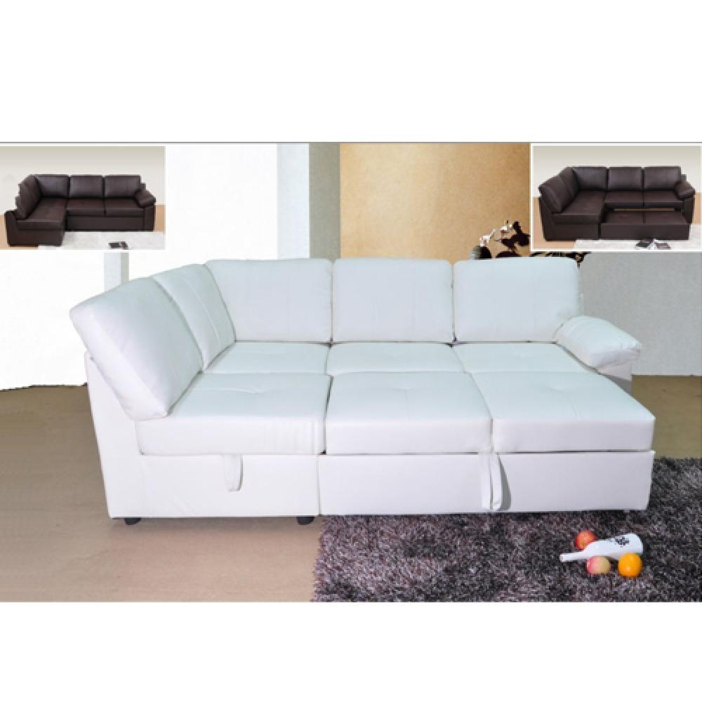 Leather Corner Sofa Bed | Tehranmix Decoration Throughout Corner Sleeper Sofas (Image 10 of 20)