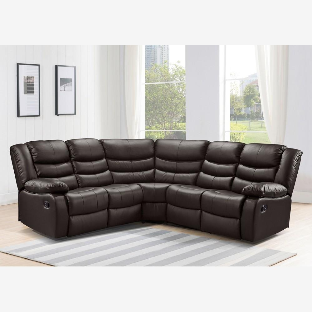 Leather Corner Sofa Recliner | Tehranmix Decoration Pertaining To Charcoal Grey Leather Sofas (View 15 of 20)