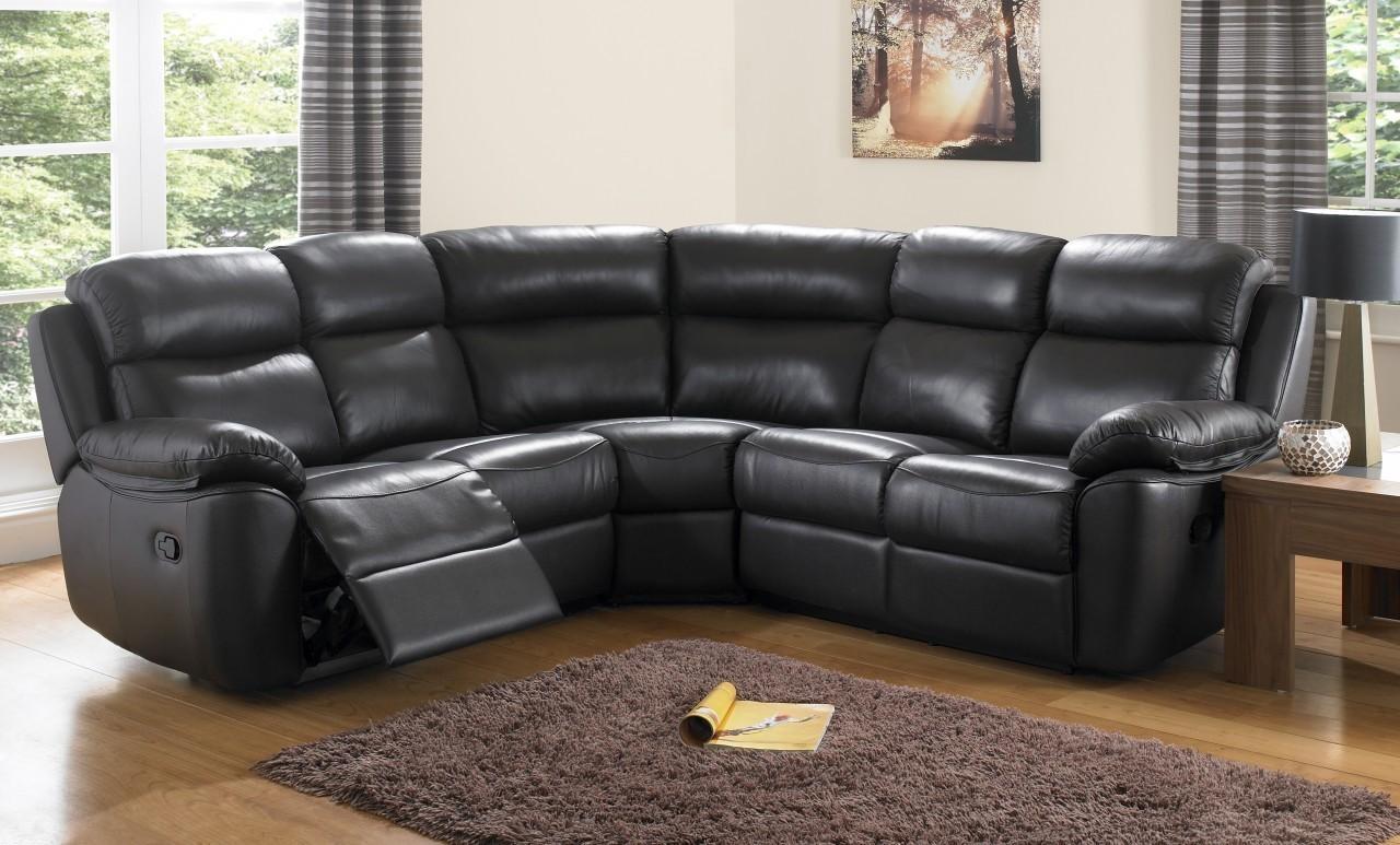 Leather Corner Sofas And Denver Leather Corner Sofa | Modern Intended For Leather Corner Sofas (Image 11 of 20)