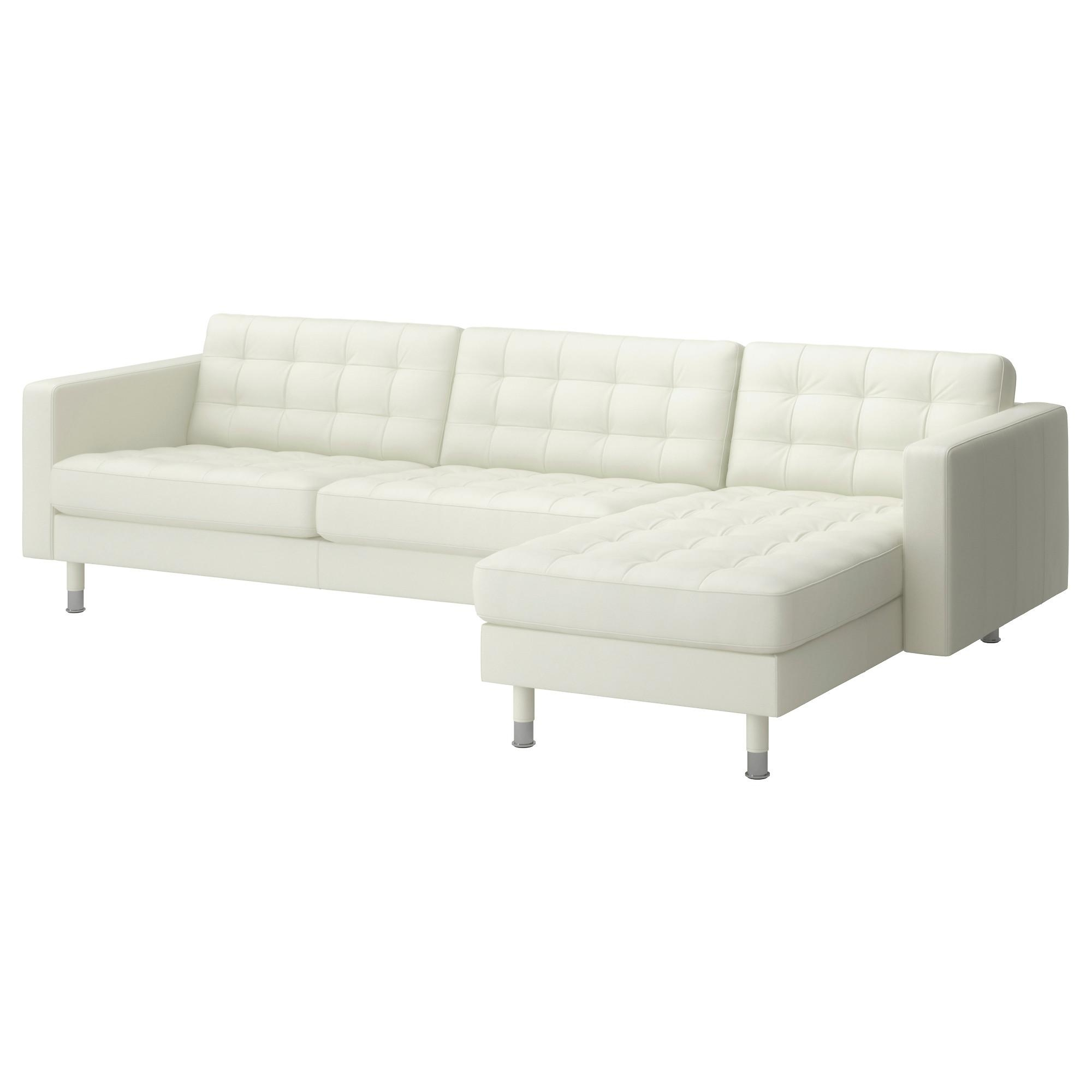 Leather & Faux Leather Couches, Chairs & Ottomans – Ikea Intended For White Leather Sofas (Image 4 of 20)