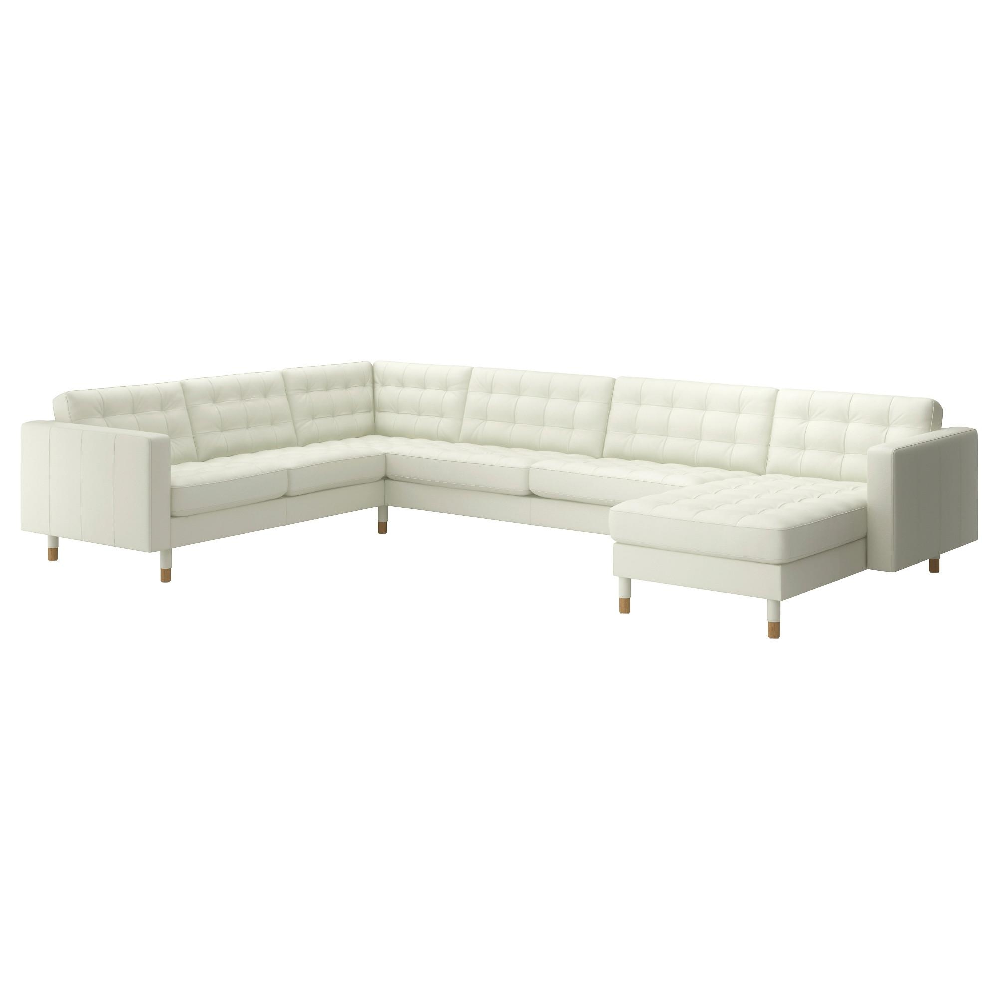 Leather & Faux Leather Couches, Chairs & Ottomans – Ikea Intended For White Sofa Chairs (View 17 of 20)