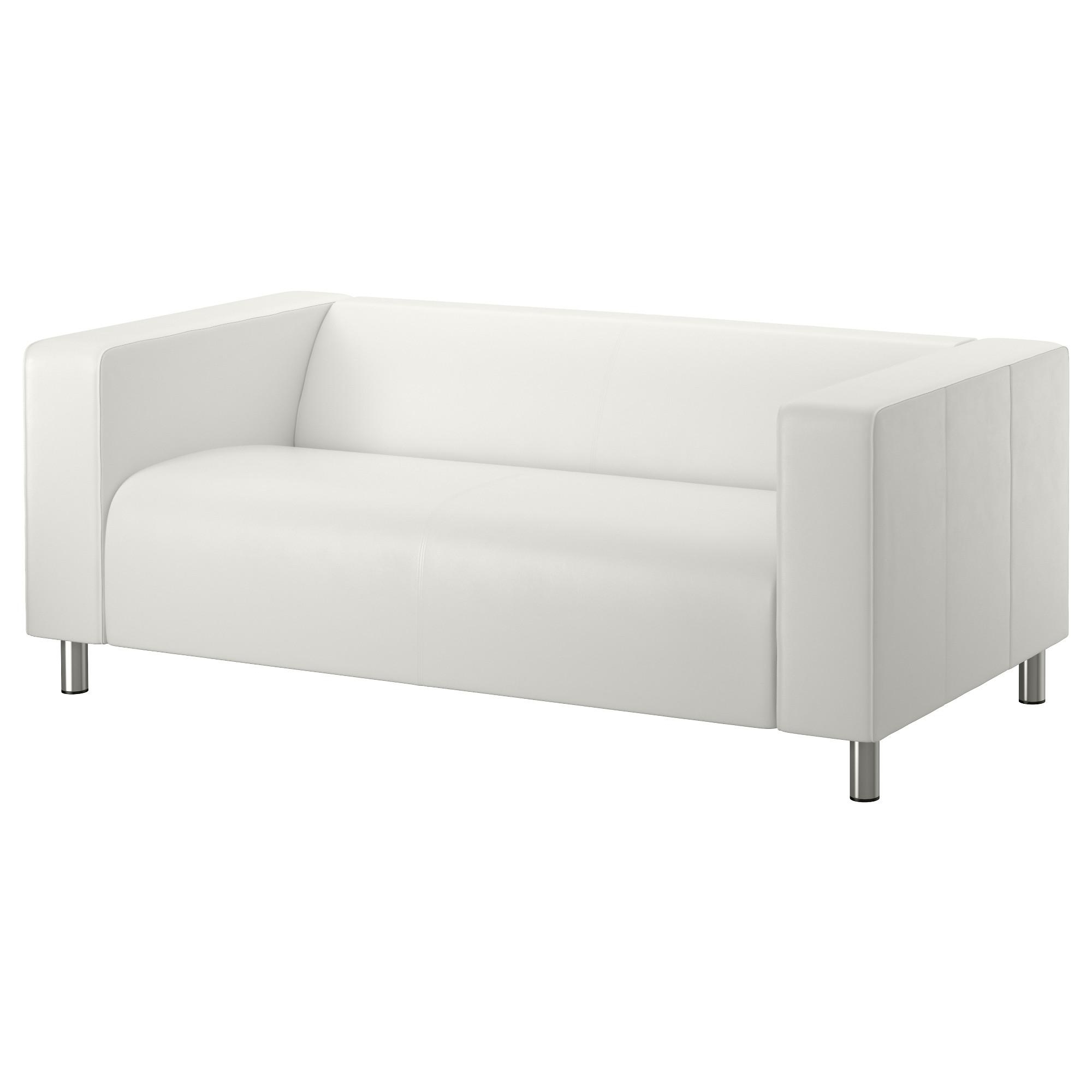 Leather & Faux Leather Couches, Chairs & Ottomans – Ikea Regarding White Sofa Chairs (Image 6 of 20)