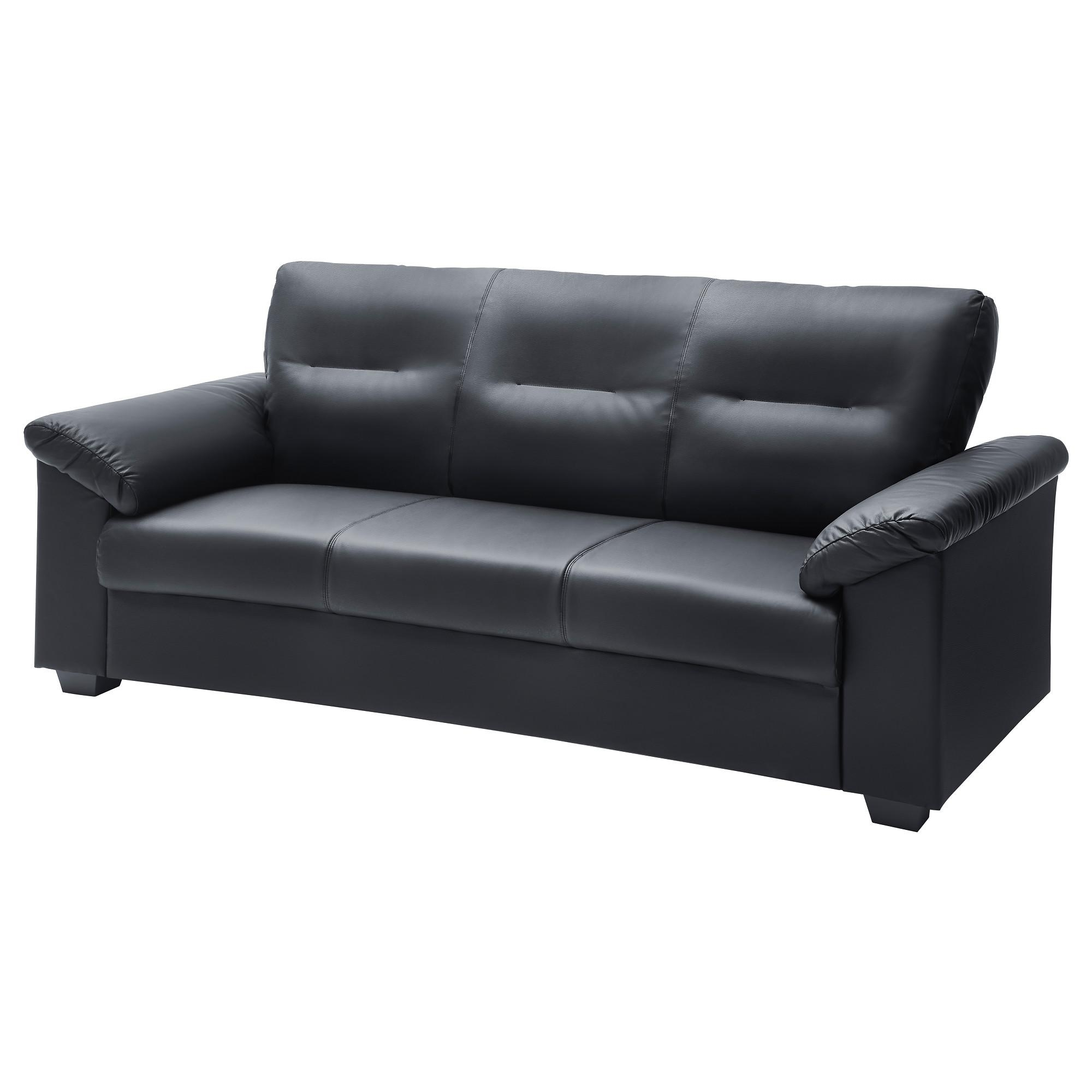 Leather & Faux Leather Couches, Chairs & Ottomans – Ikea Throughout Black And White Sofas (View 19 of 20)