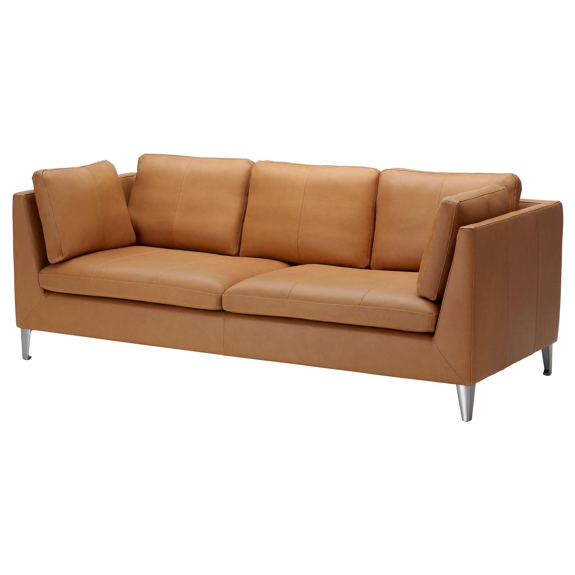 Leather & Faux Leather Couches, Chairs & Ottomans – Ikea With Light Tan Leather Sofas (View 13 of 20)