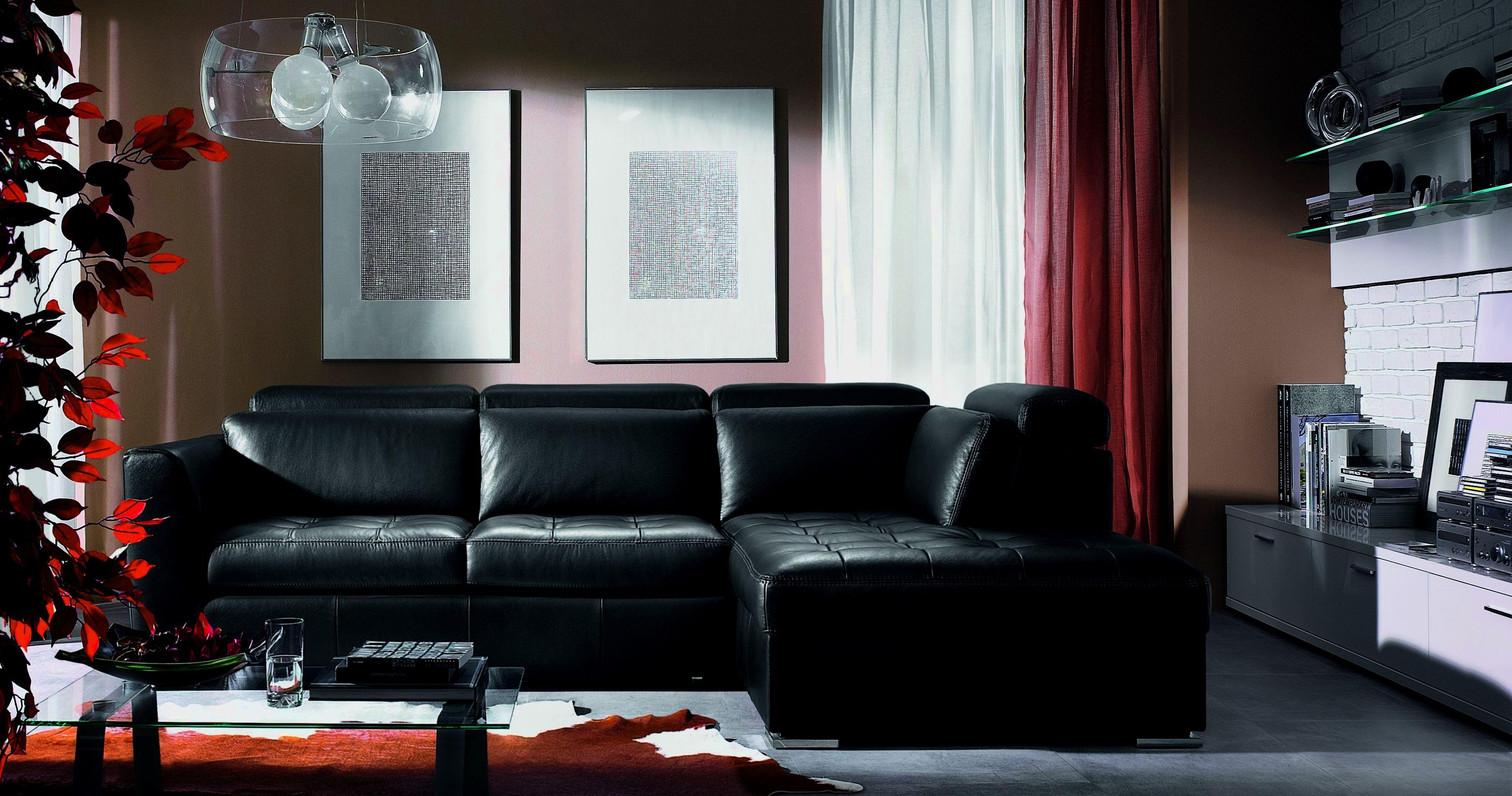 Leather Furniture For Small Living Room – Modern House Pertaining To Black Sofas For Living Room (View 11 of 20)