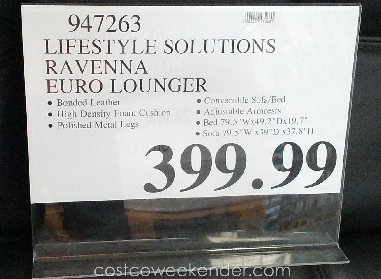 Leather Futon Costco Roselawnlutheran In Euro Loungers Photo 9 Of 20