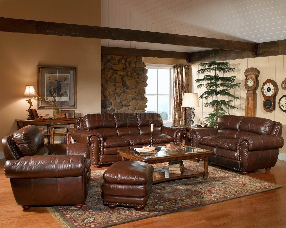 Leather Italia Aspen Brown Sofa & Loveseat Set W/options Pertaining To Aspen Leather Sofas (Image 13 of 20)